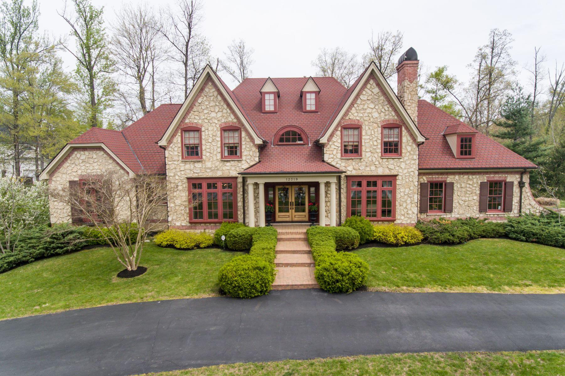 Частный односемейный дом для того Продажа на 12319 Forest School Lane Anchorage, Кентукки 40223 Соединенные Штаты