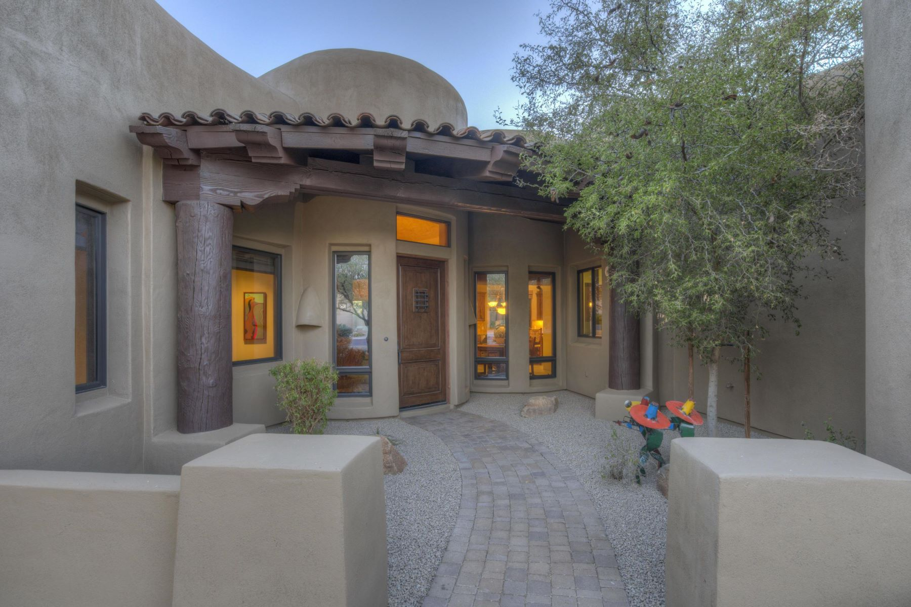 Single Family Home for Sale at Gorgeous home nestled on the 6th Fairway of the Boulders South Golf Course 7373 E Clubhouse Dr #8, Scottsdale, Arizona, 85266 United States