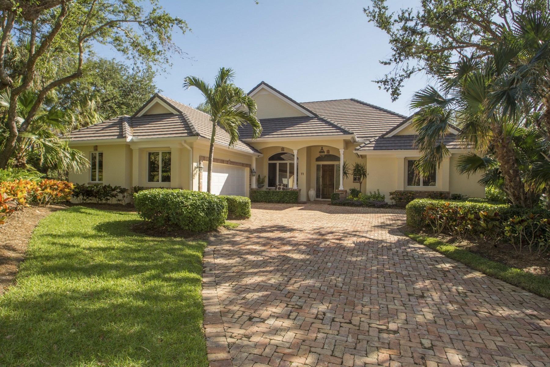 single family homes for Sale at Magnificent Home with Exquisite Landscaping 11 S. White Jewel Court Indian River Shores, Florida 32963 United States