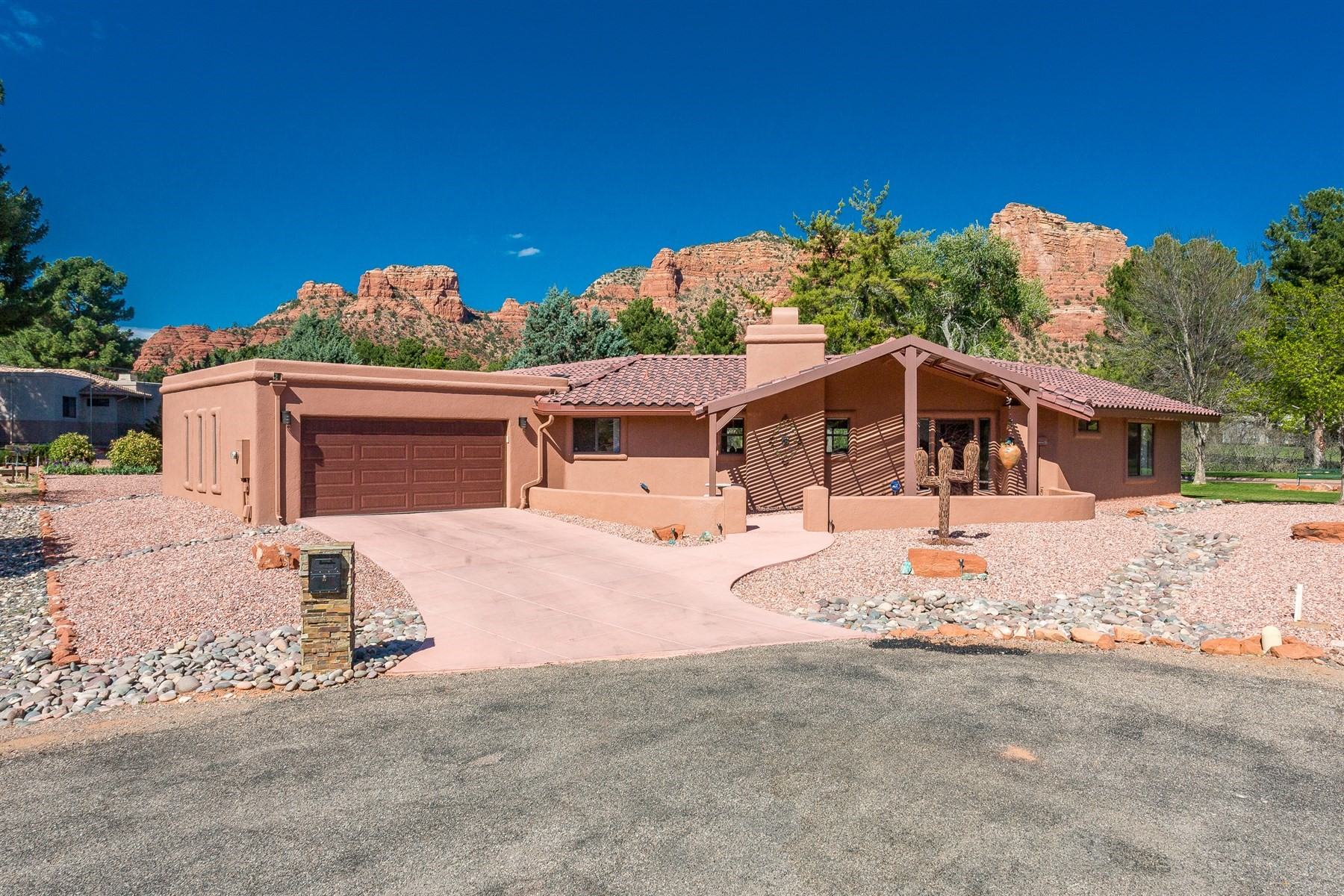 Single Family Home for Sale at Gorgeous home with unobstructed Red Rock and OCCC Golf Course Views 35 Vaquero Cir Sedona, Arizona, 86351 United States