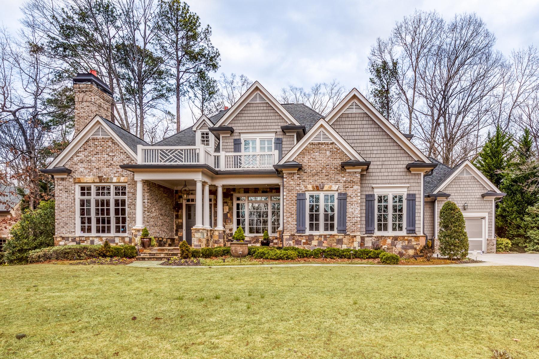 Частный односемейный дом для того Продажа на Custom Built Traditional 635 Colebrook Court Atlanta, Джорджия, 30327 Соединенные Штаты