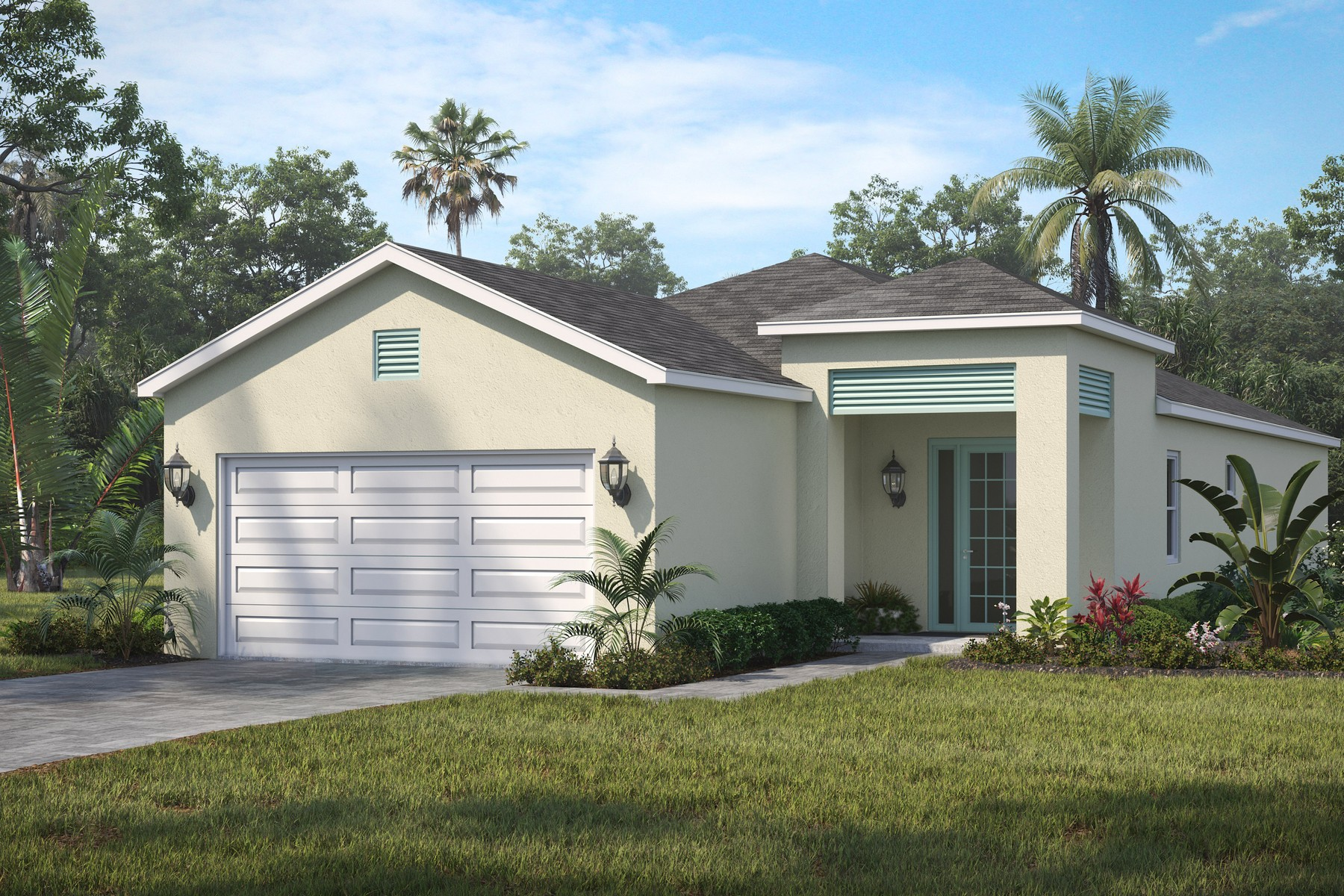 Single Family Homes for Sale at New Falls III Model! 2160 Falls Manor Vero Beach, Florida 32967 United States