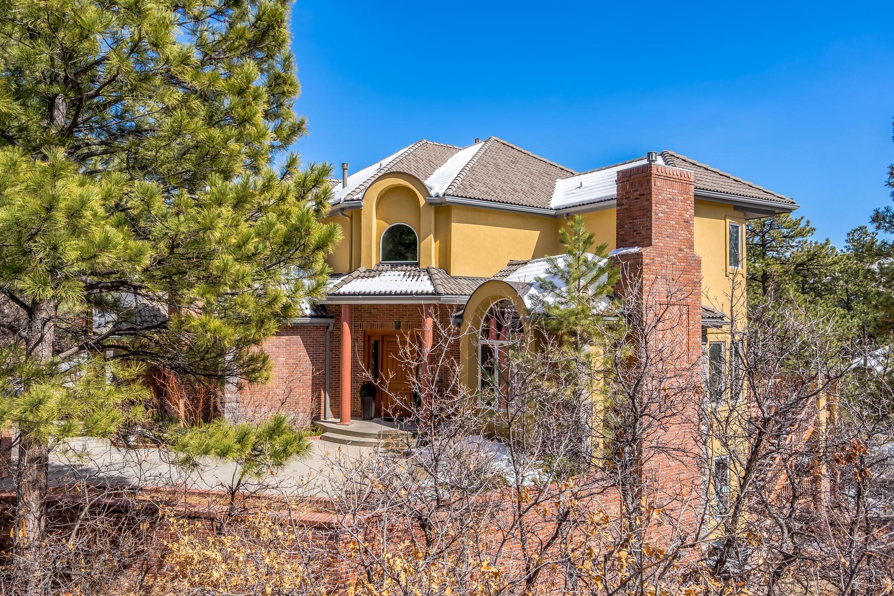 Частный односемейный дом для того Продажа на 514 Prospect Dr Castle Pines Village, Castle Rock, Колорадо, 80108 Соединенные Штаты