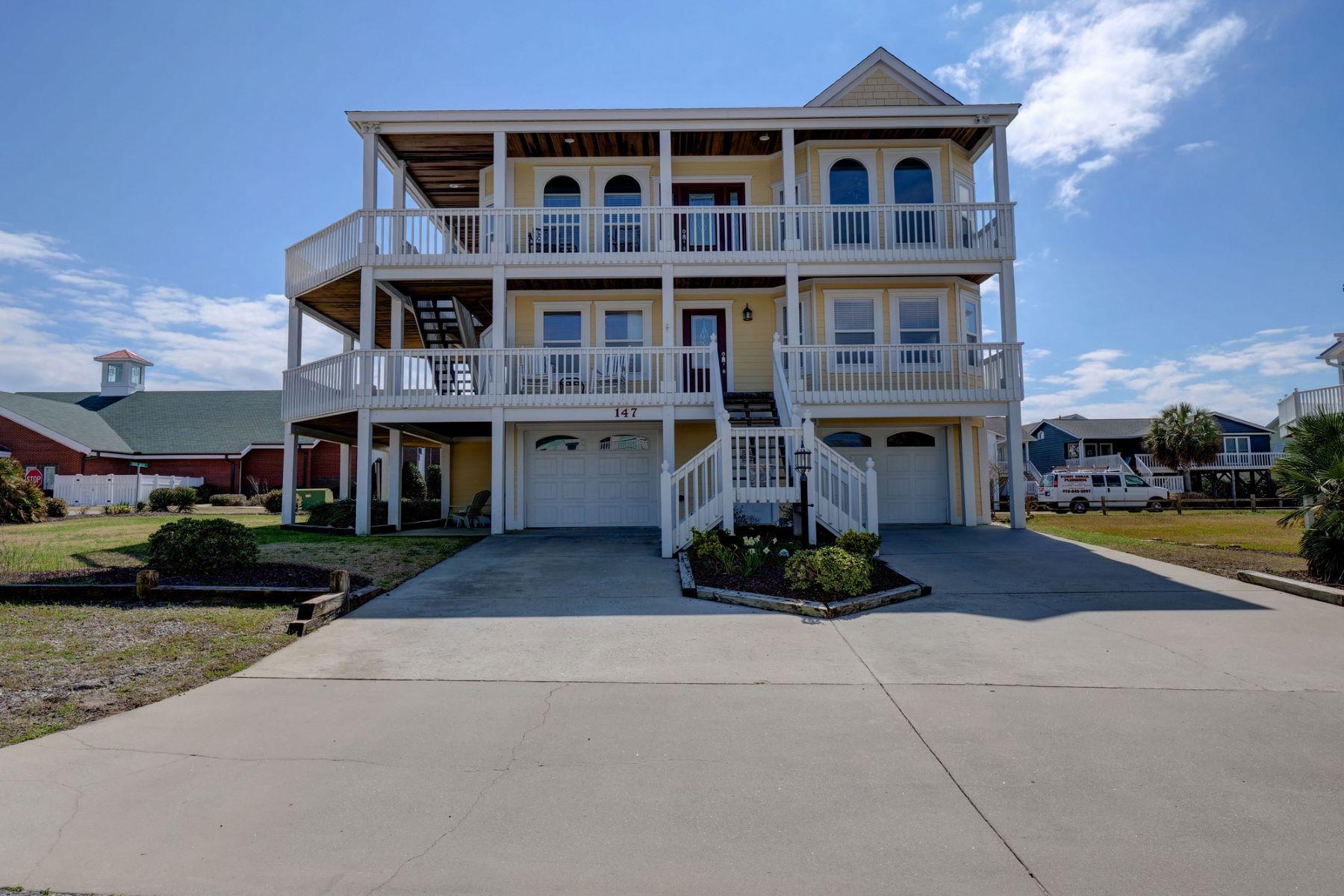 Частный односемейный дом для того Продажа на Coastal Living Begins in this Home 147 Yacht Watch Drive, Holden Beach, Северная Каролина, 28462 Соединенные Штаты