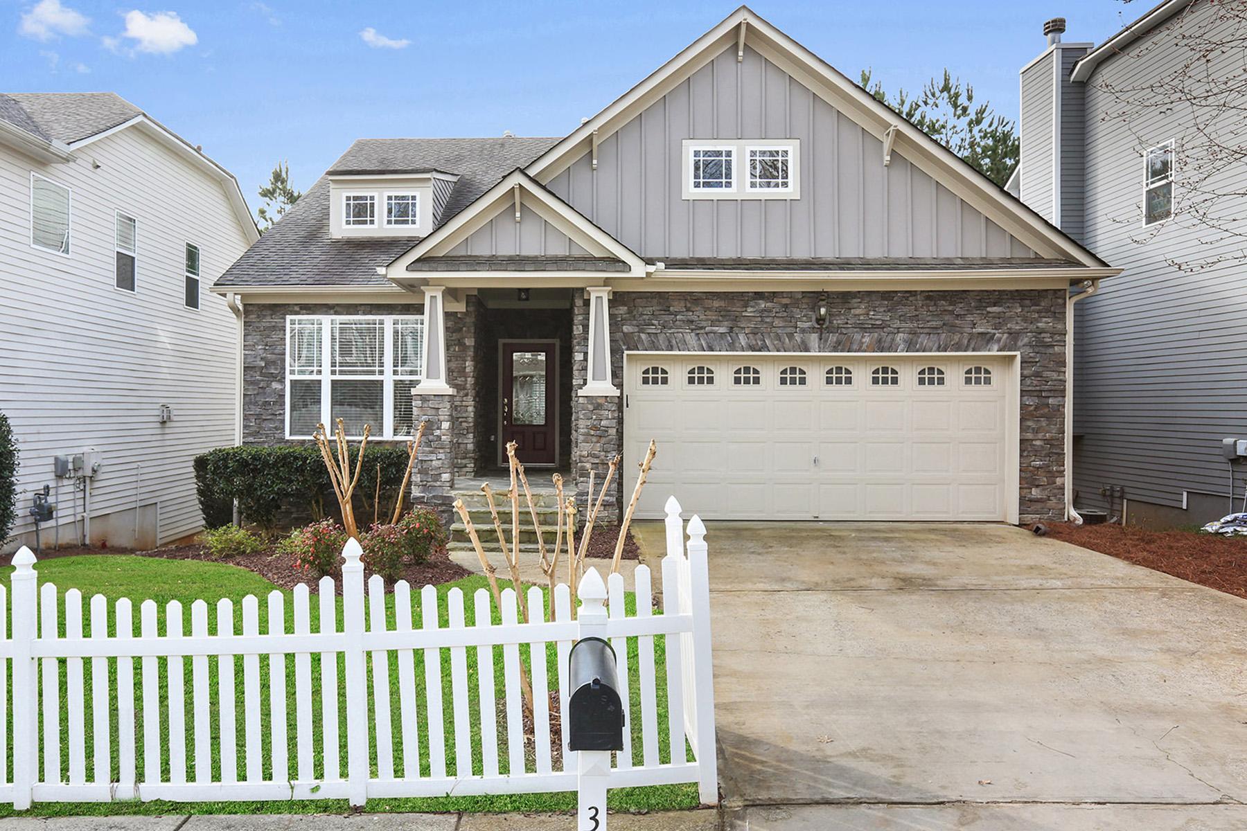 Частный односемейный дом для того Продажа на White Picket Fence Craftsman Home On Full Daylight Basement 3710 Livery Lane, Cumming, Джорджия, 30040 Соединенные Штаты