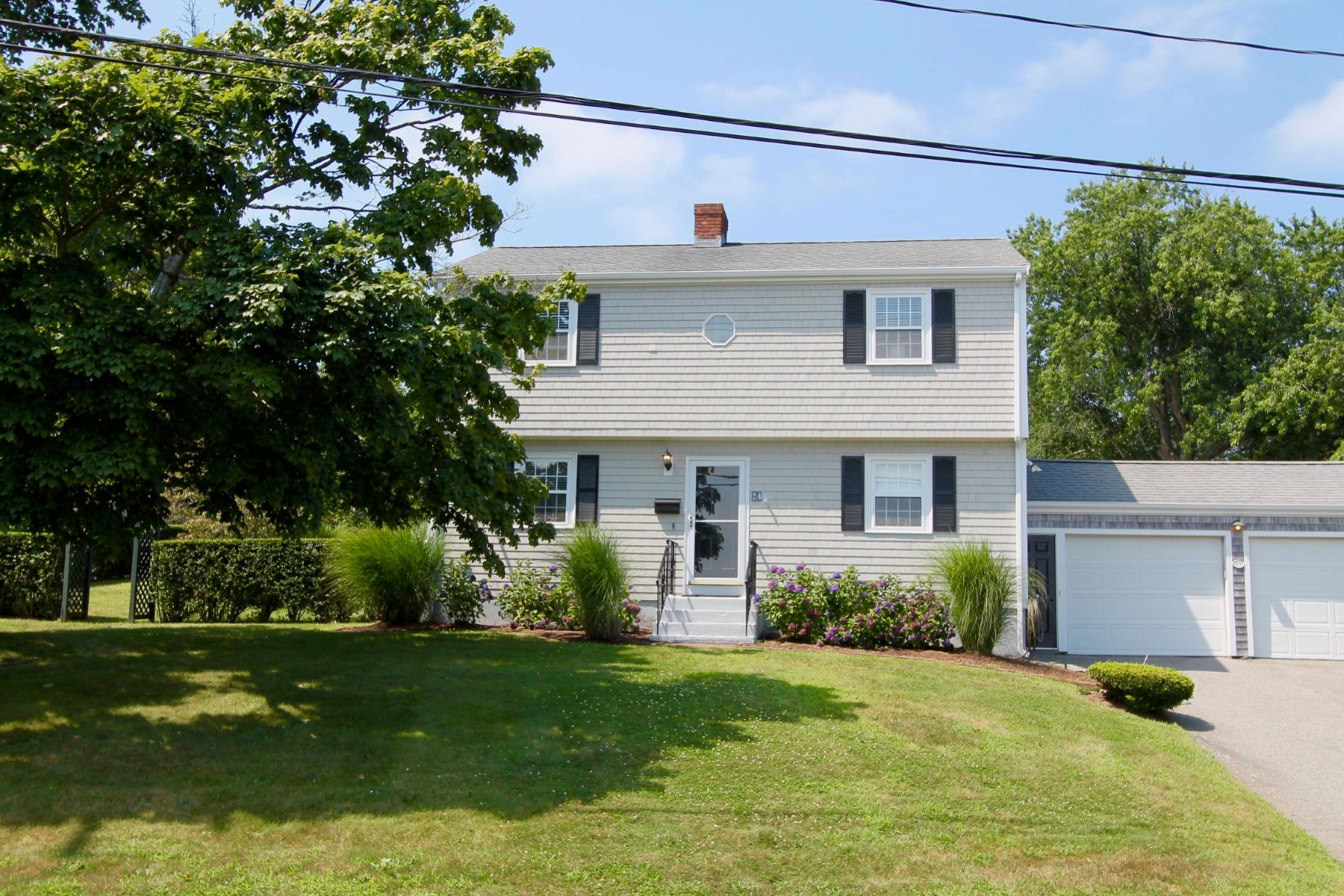 Single Family Homes for Sale at Mid-Century Colonial 24 High Street Middletown, Rhode Island 02842 United States