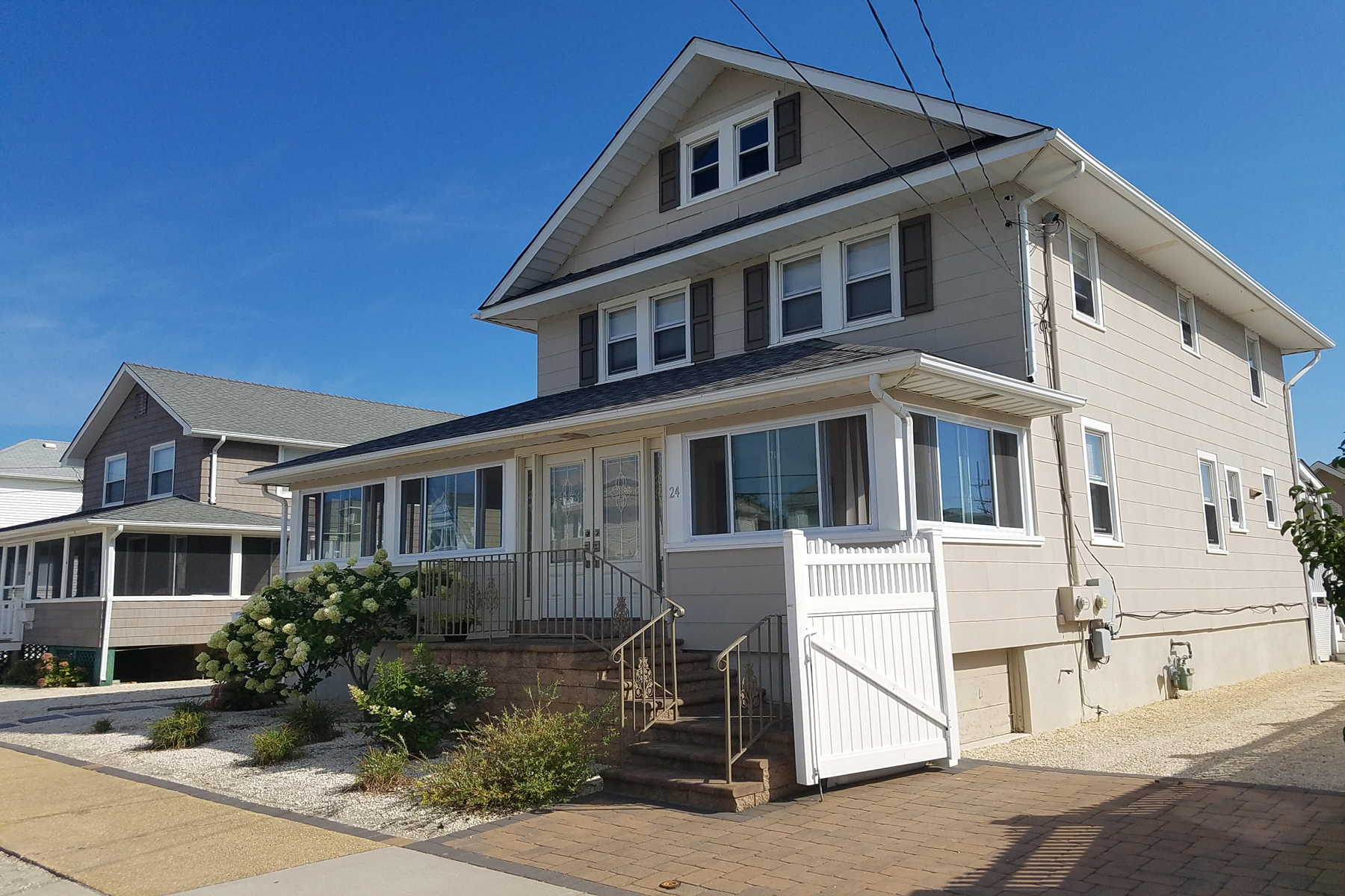 Single Family Home for Sale at Distinguished Classic Oceanblock Shore Colonial 24 Reese Avene, Lavallette, New Jersey 08735 United States