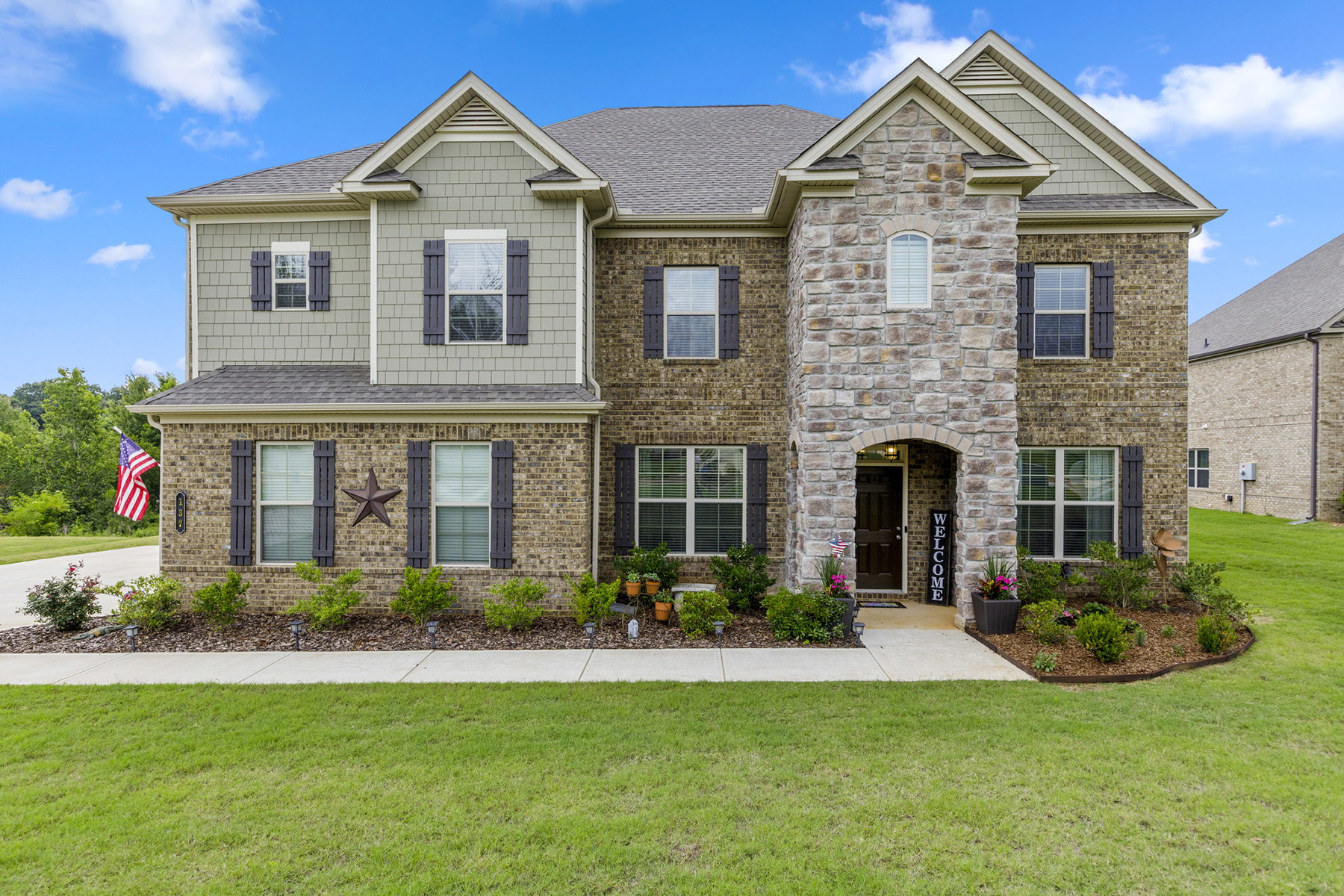 Single Family Homes for Sale at Newer Construction with Beautiful Lake Views 137 Aylesbury Boulevard McDonough, Georgia 30252 United States