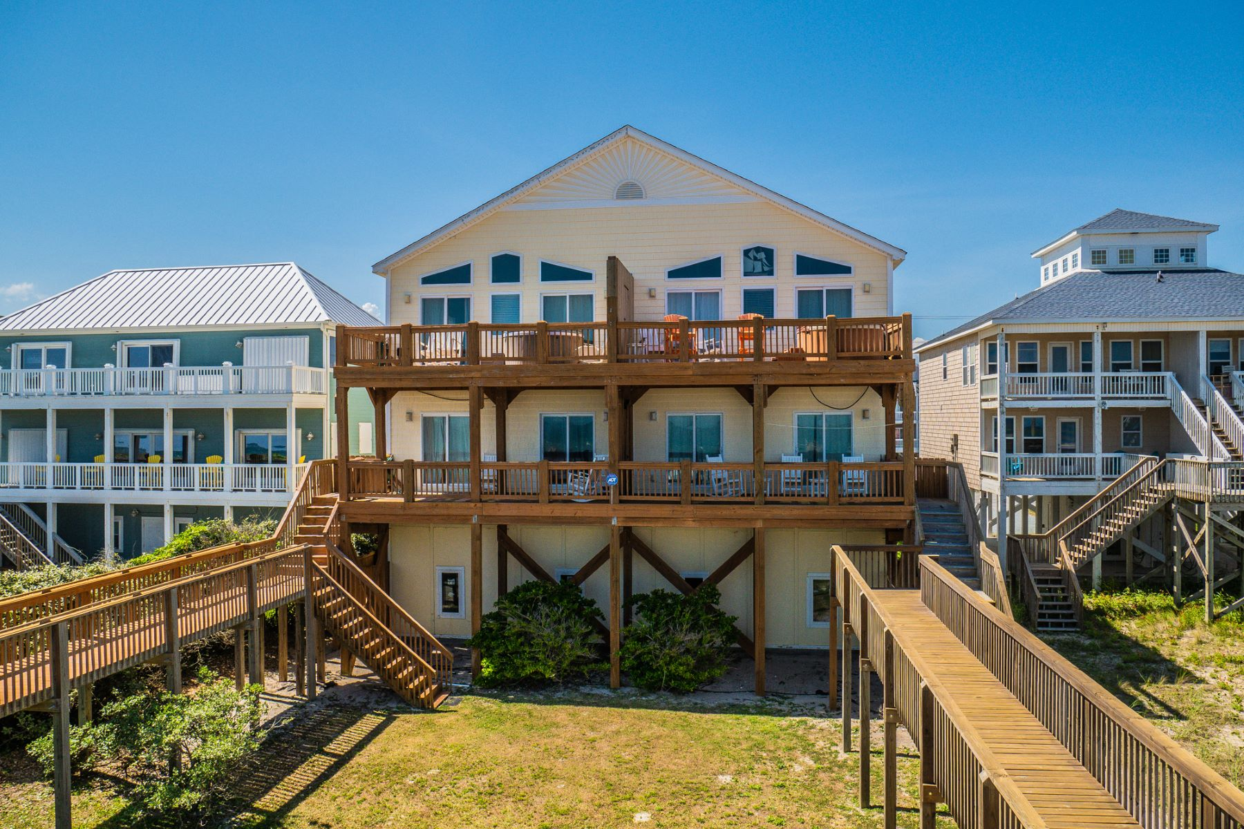Single Family Homes for Sale at Family Oceanfront Getaway in North Topsail 3726 Island Drive N Topsail Beach, North Carolina 28460 United States