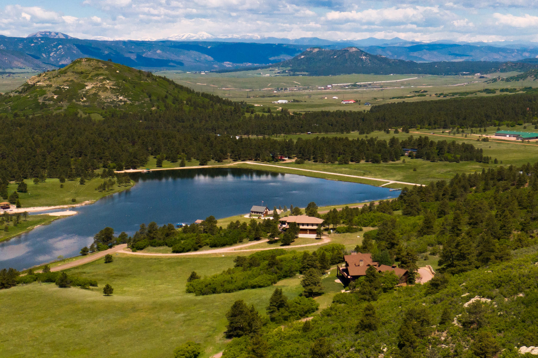 Single Family Homes for Sale at 35-Acre Estate designed for a Lake Lifestyle. 4409 Triple Eagle Trl Larkspur, Colorado 80118 United States
