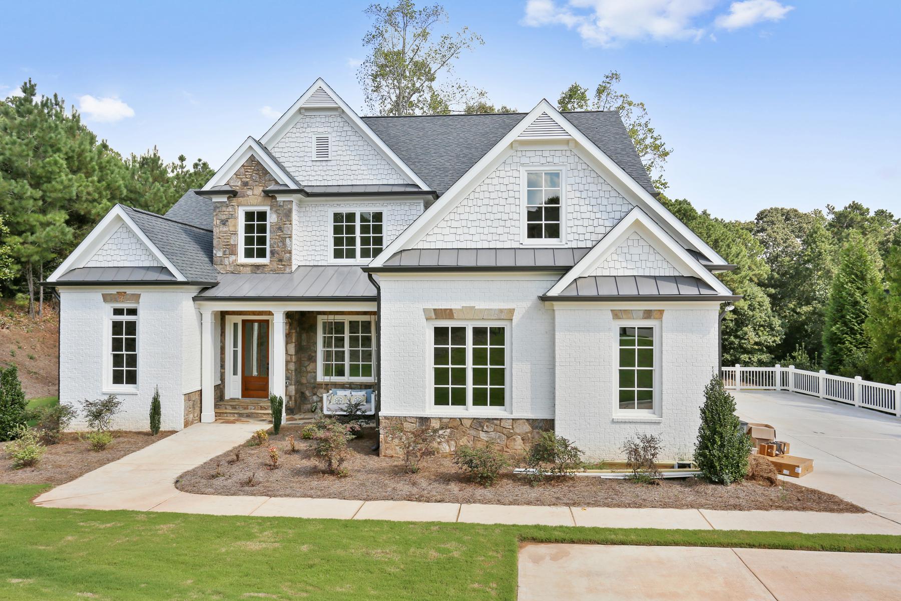 Enfamiljshus för Försäljning vid New Construction In Sought After Swim Tennis 13043 Overlook Pass Roswell, Georgien 30075 Usa