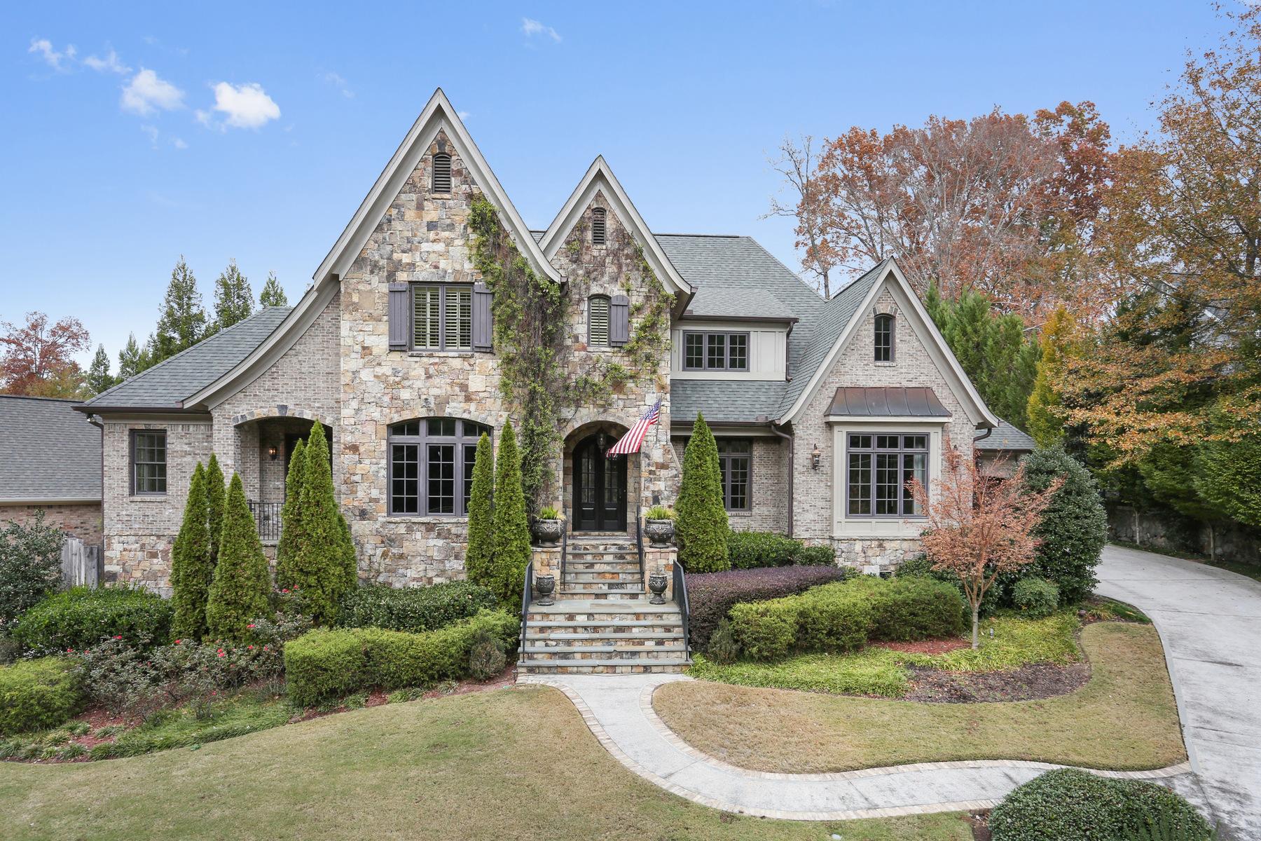 Частный односемейный дом для того Продажа на Stunning European Manor 14 Laurel Drive NE Atlanta, Джорджия 30342 Соединенные Штаты