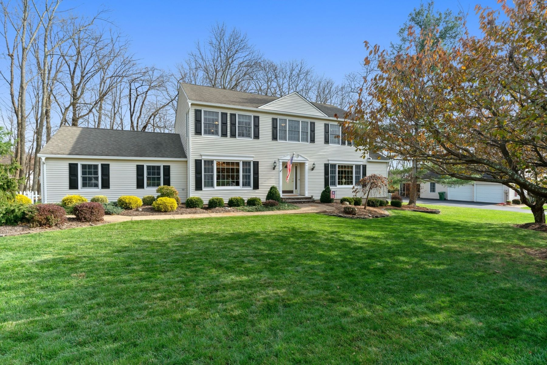Single Family Homes for Sale at Stunning Colonial 17 Walnut Drive Washington Township, New Jersey 07853 United States