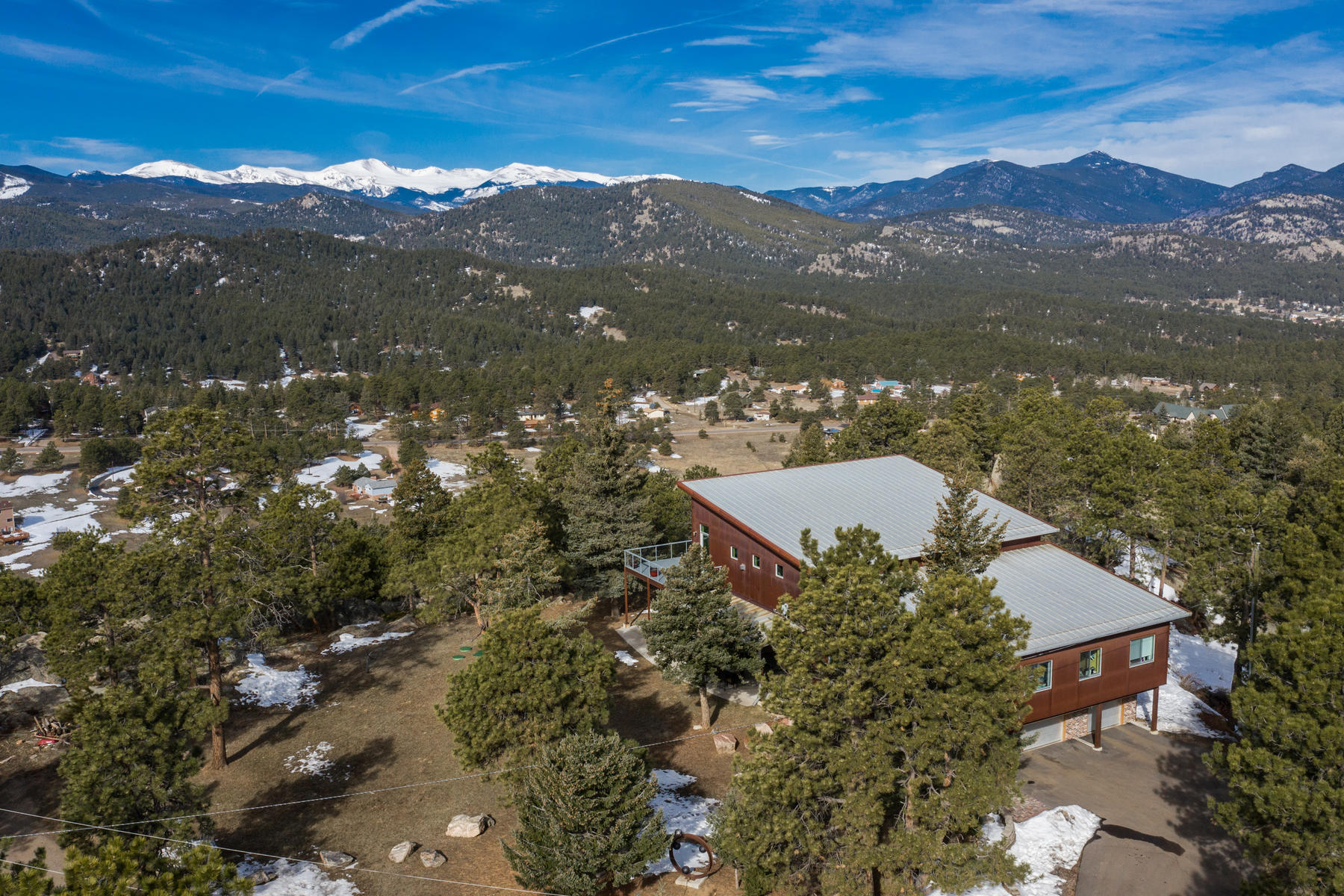 Single Family Homes for Active at Contemporary Masterpiece 6199 South Skyline Drive Evergreen, Colorado 8043 United States