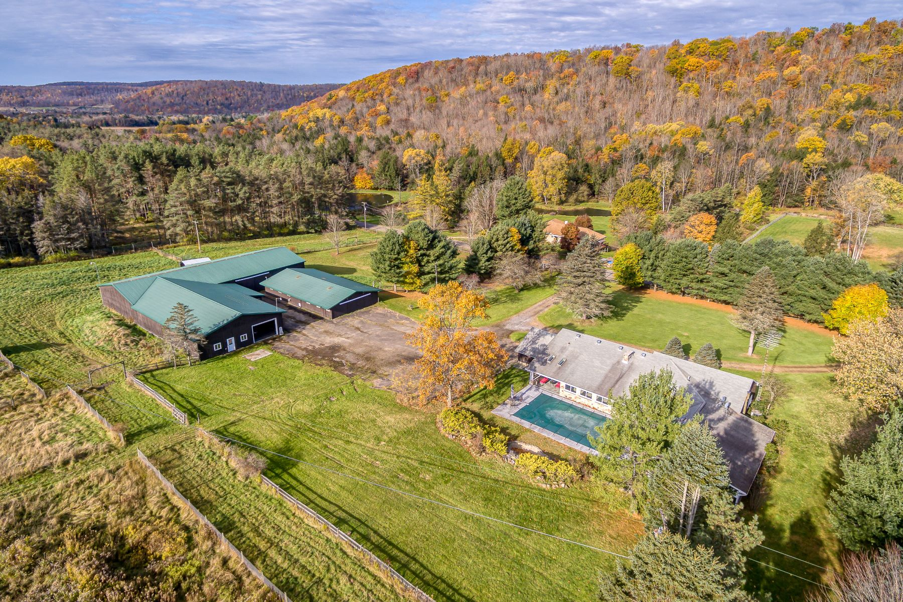 Farm / Ranch / Plantation for Sale at Fabulous Ranch Living in Cattaraugus County 473 Wolf Run Road Portville, New York 14727 United States