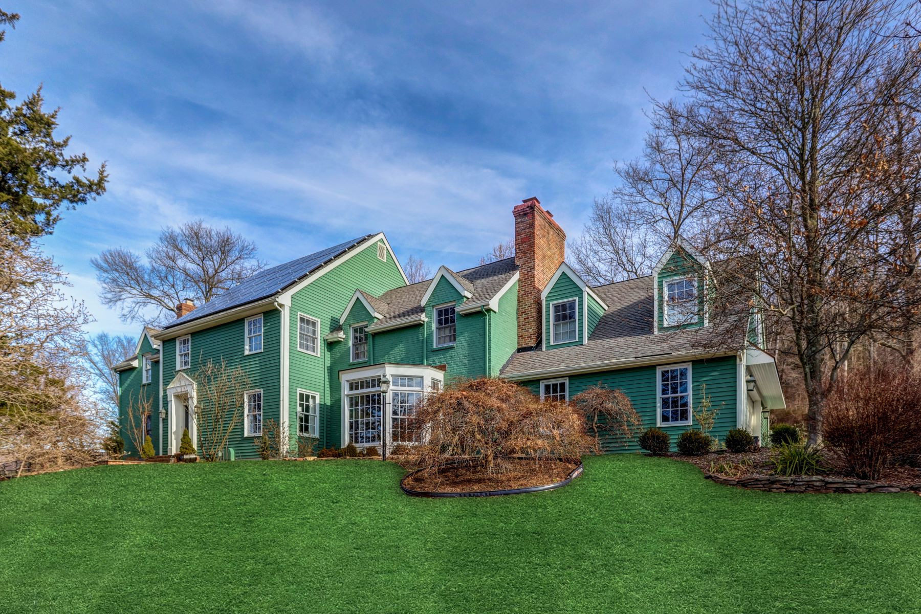 Single Family Homes for Sale at Gracious Colonial 23 Roundtop Road Tewksbury Township, New Jersey 08833 United States