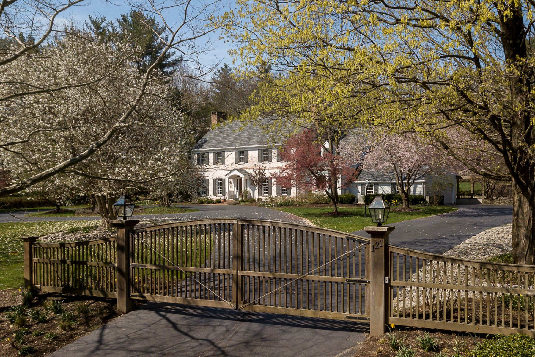 Single Family Home for Sale at Refined Colonial Framed by Magnificent Grounds 121 Winfield Road, Princeton, New Jersey 08540 United States