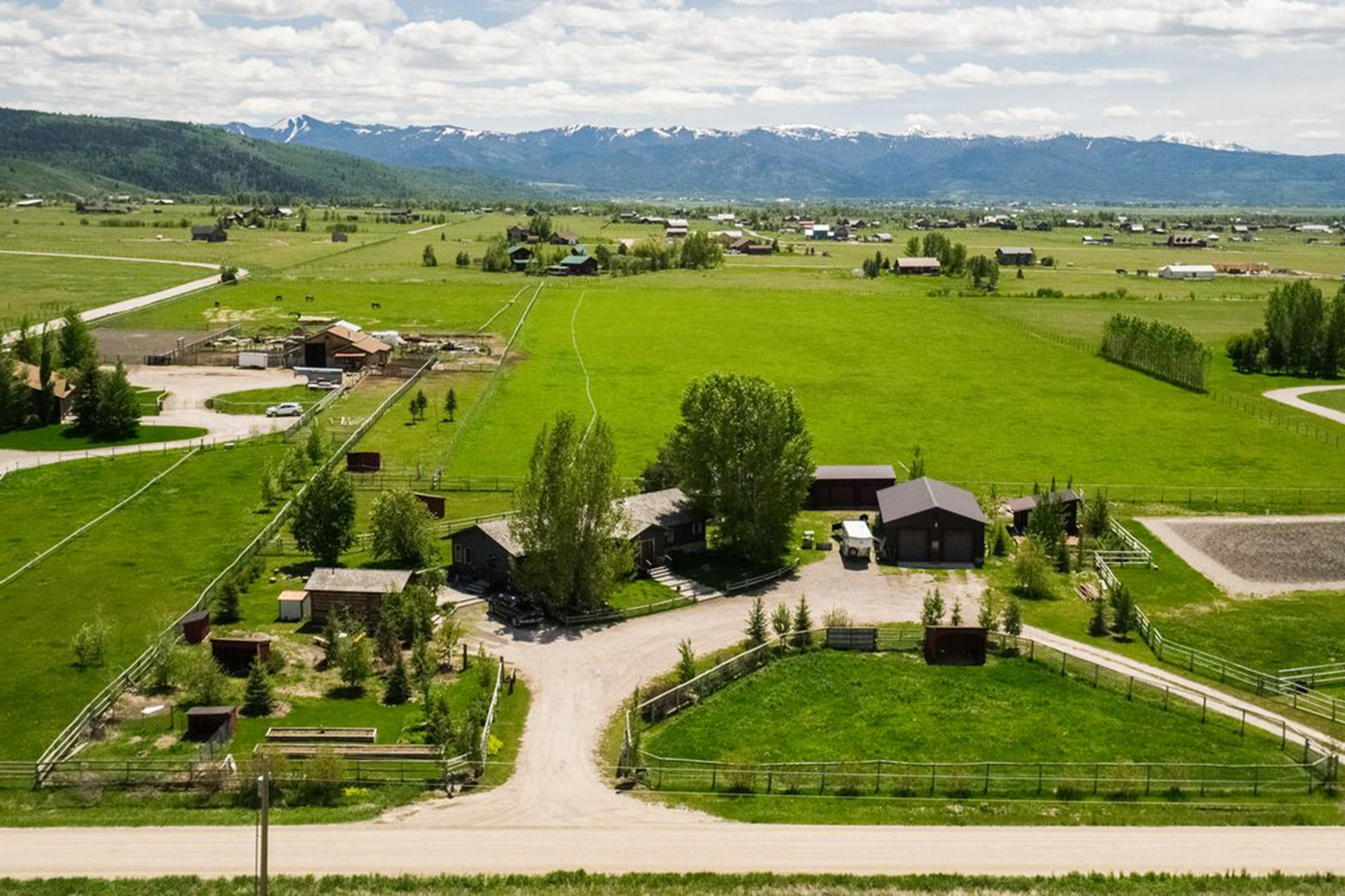 Single Family Homes for Active at Victor Home & Guest Cabin on 12+ Acres 399 East 4000 South Victor, Idaho 83455 United States
