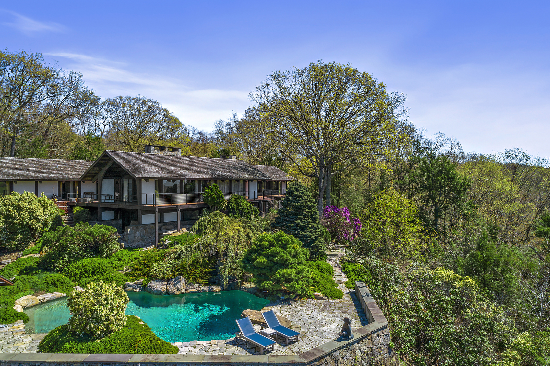 Property pour l Vente à Room With A View 34 Robin Hood Road Pound Ridge, New York 10576 États-Unis