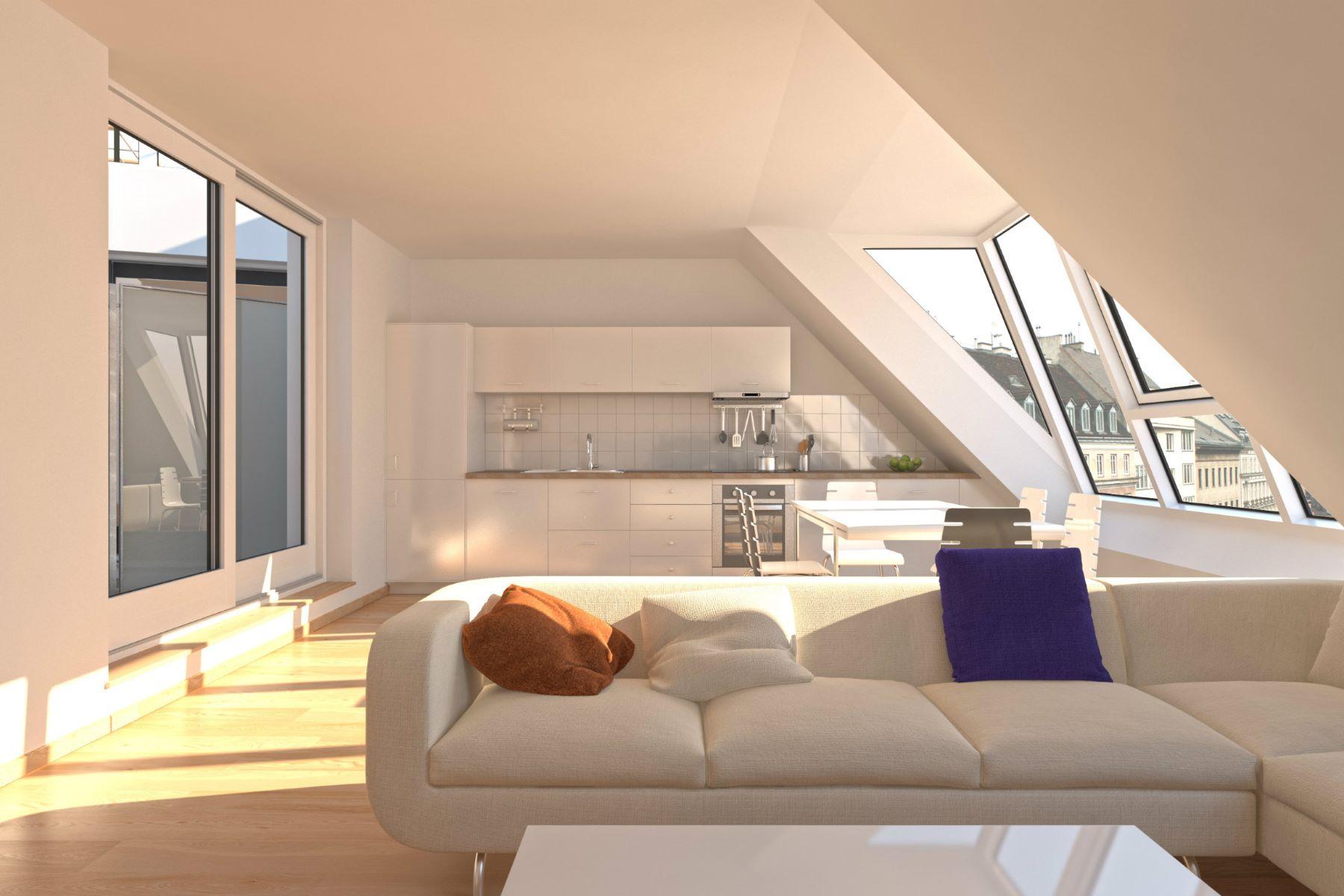 Appartement pour l Vente à 2 BED MAISONETTE WITH BEAUTIFUL TERRACE Vienna, Vienna, 1090 Austria