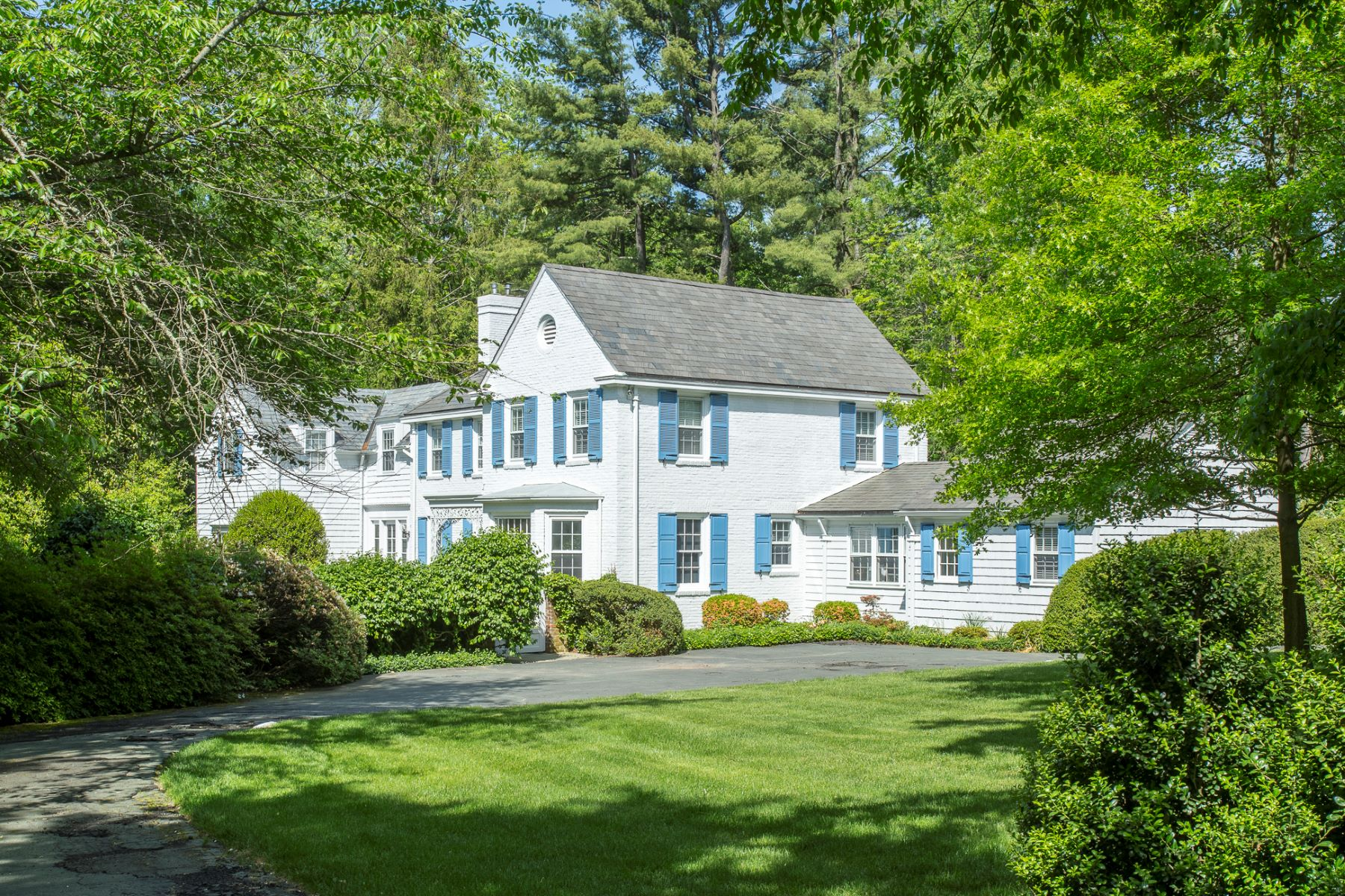 Single Family Home for Sale at Handsome Institute Colonial Encircled by Gardens 100 Battle Road Circle Princeton, New Jersey, 08540 United States