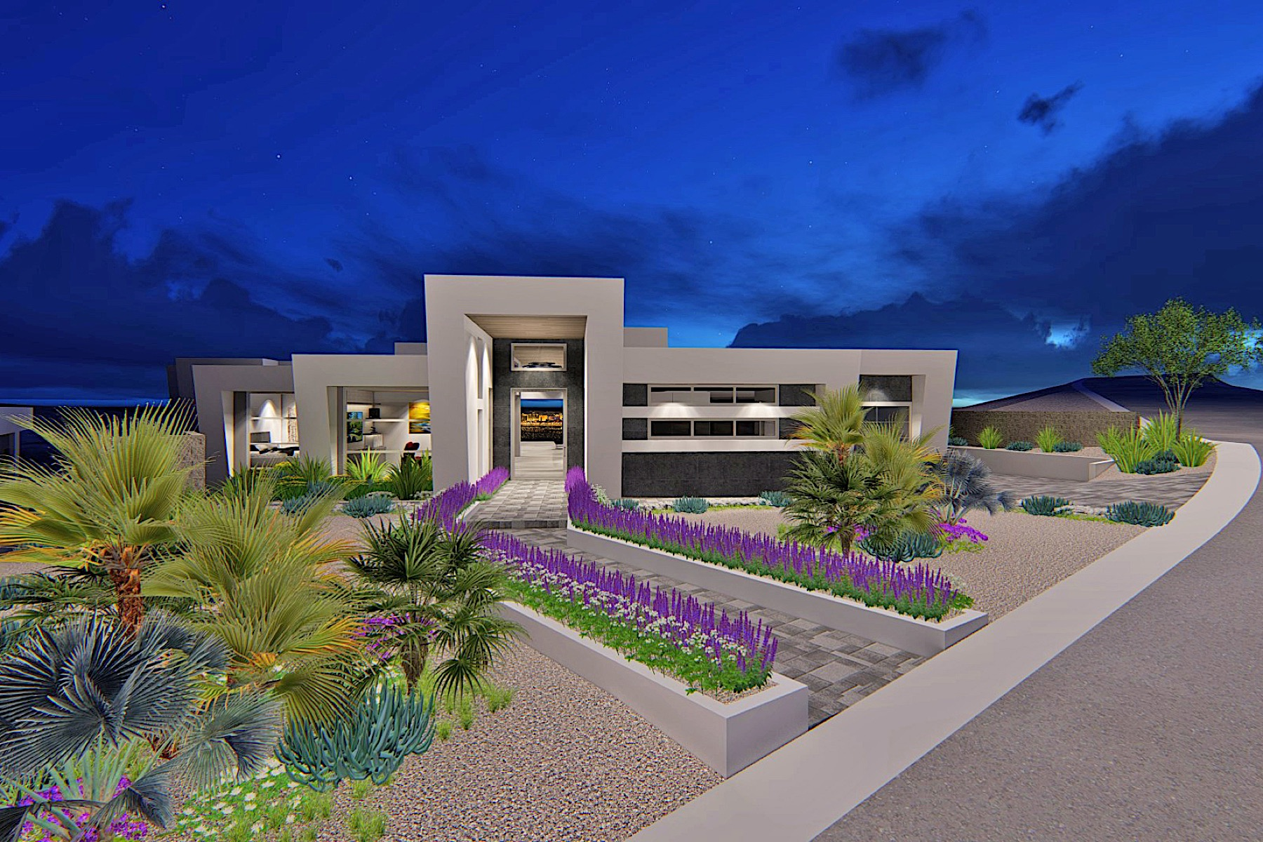 Single Family Homes for Sale at The Pointe. New Modern Custom on Strip View Bluff 631 Cityview Ridge Drive Henderson, Nevada 89012 United States