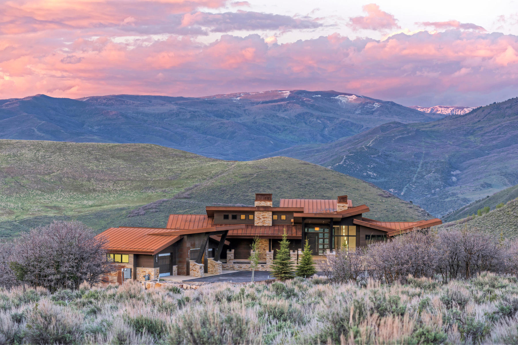 Maison unifamiliale pour l Vente à Spectacular New Construction Home with Panoramic Views protected by Open Space! 3931 Aspen Camp Loop Park City, Utah, 84098 États-Unis