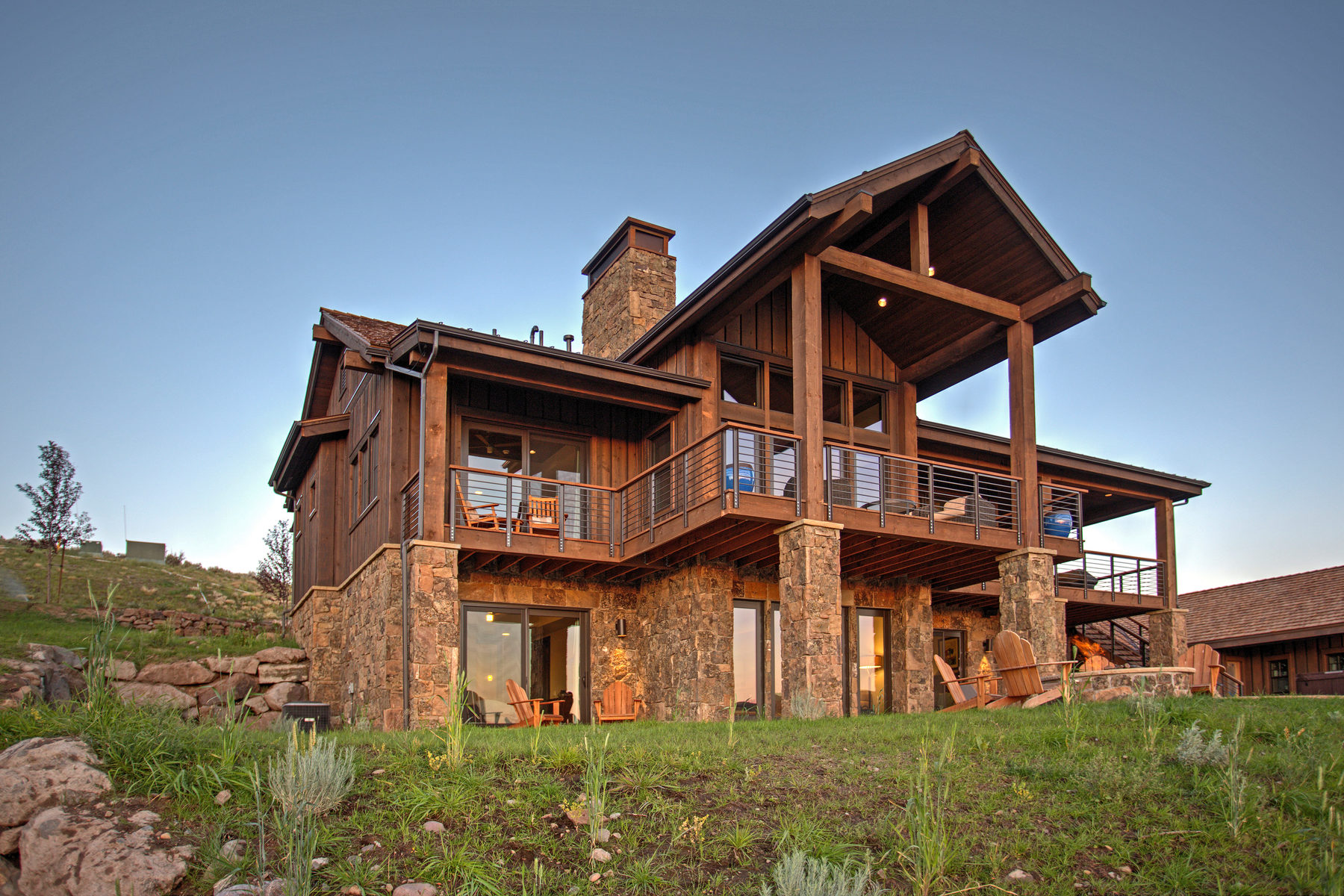 Single Family Home for Sale at Juniper Cabin with Spectacular Views 7049 N Rees Jones Way #171 Heber City, Utah, 84032 United States