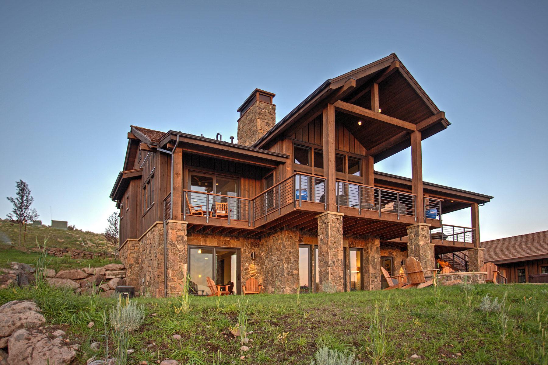 Частный односемейный дом для того Продажа на Juniper Cabin with Spectacular Views 7049 N Rees Jones Way #171 Heber City, Юта 84032 Соединенные Штаты