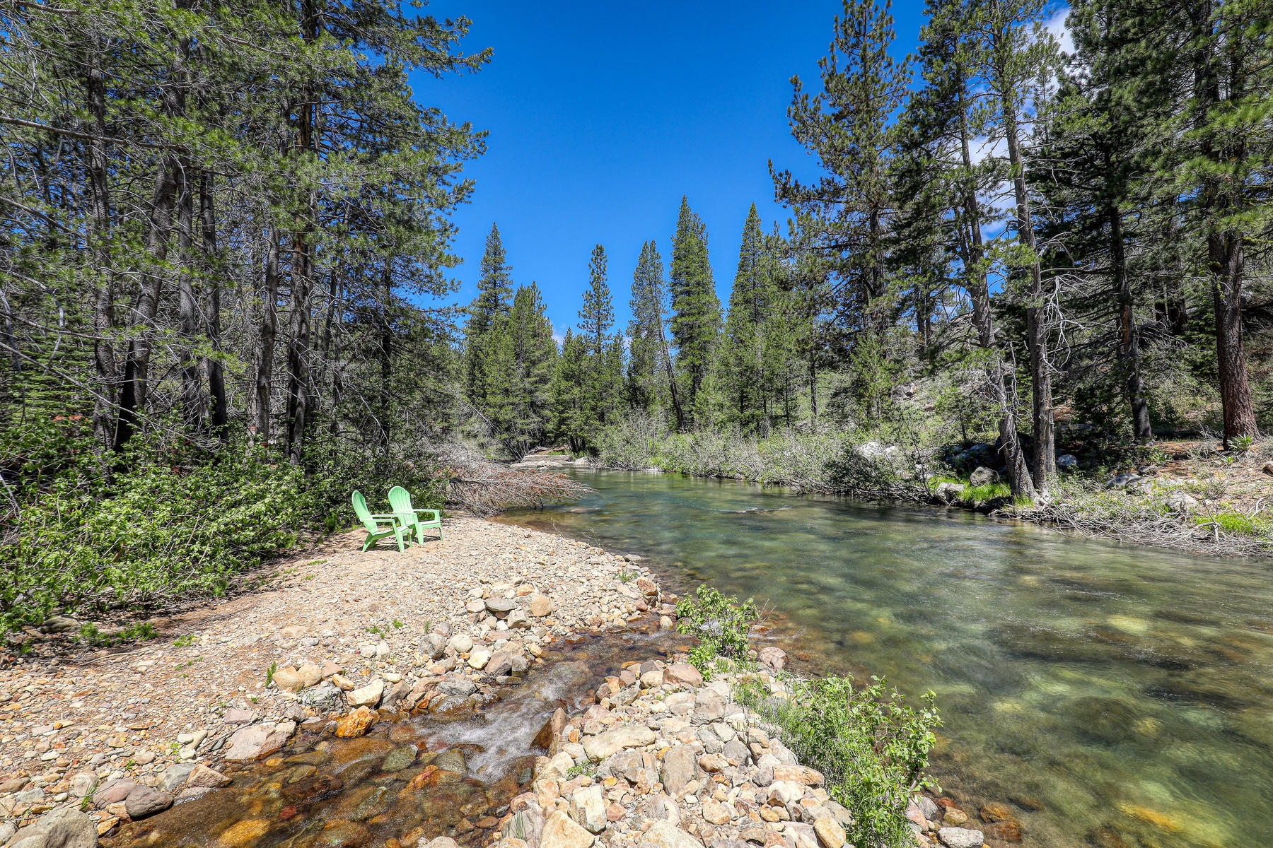Additional photo for property listing at Private and peaceful multi-structure riverfront property close to Squaw. 6460 & 6464 River Street Olympic Valley, California 96146 United States
