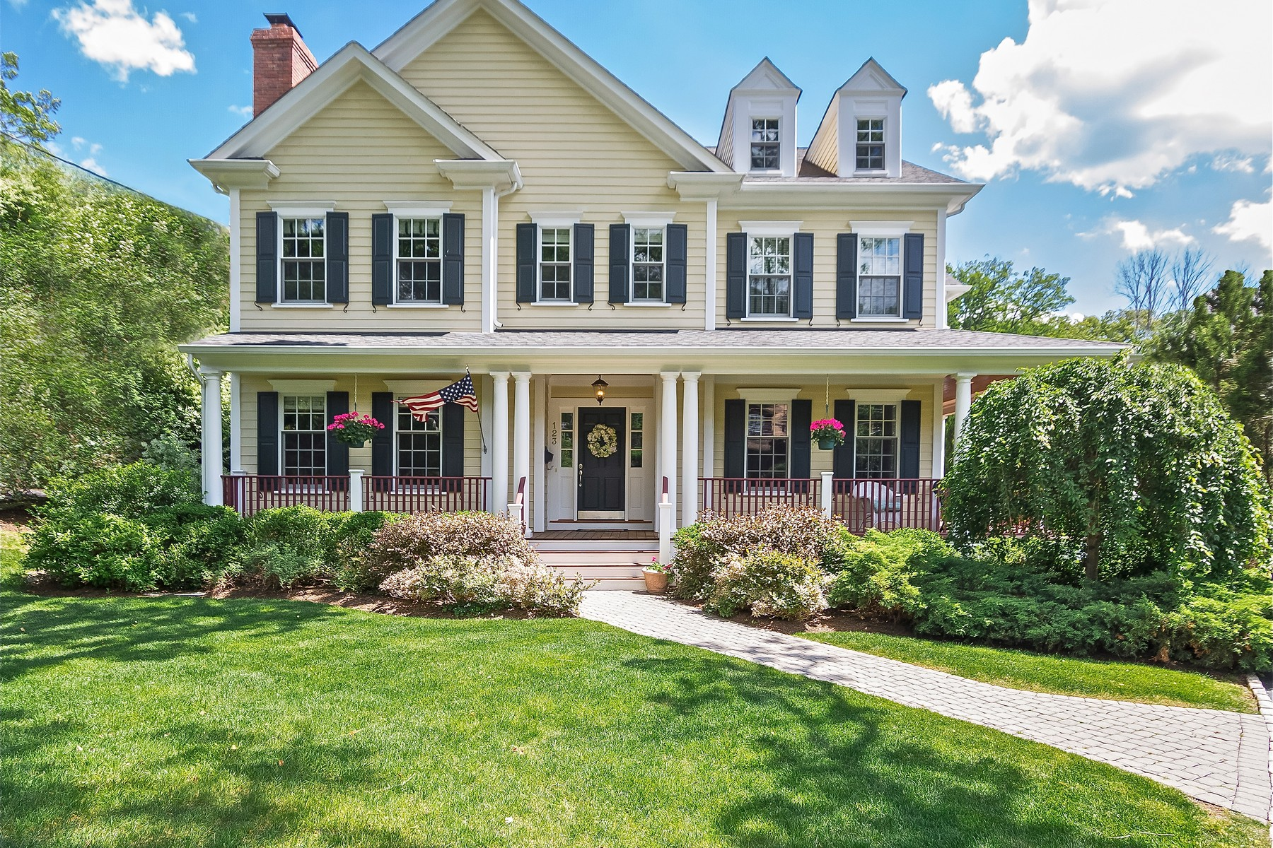 Single Family Home for Sale at Gracious Custom Colonial 123 Central Avenue Madison, New Jersey 07940 United States