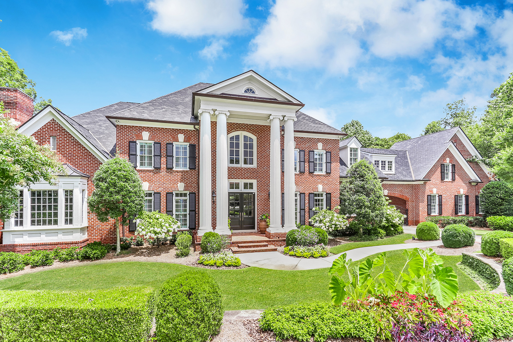 Single Family Homes for Active at Exceptional Private 3.6 Acre Gated Estate Backing To Chattahoochee National Park 374 Citadella Court Johns Creek, Georgia 30022 United States