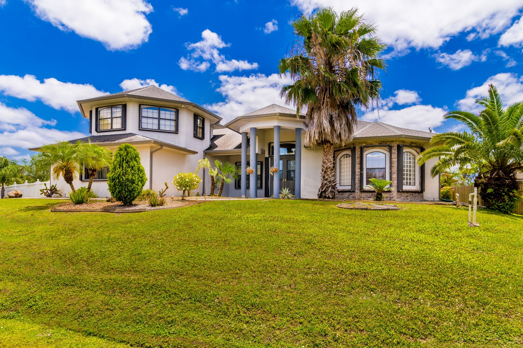 Single Family Home for Sale at Custom Built Home with Tropical Feel 578 Lafayette Street Palm Bay, Florida 32908 United States