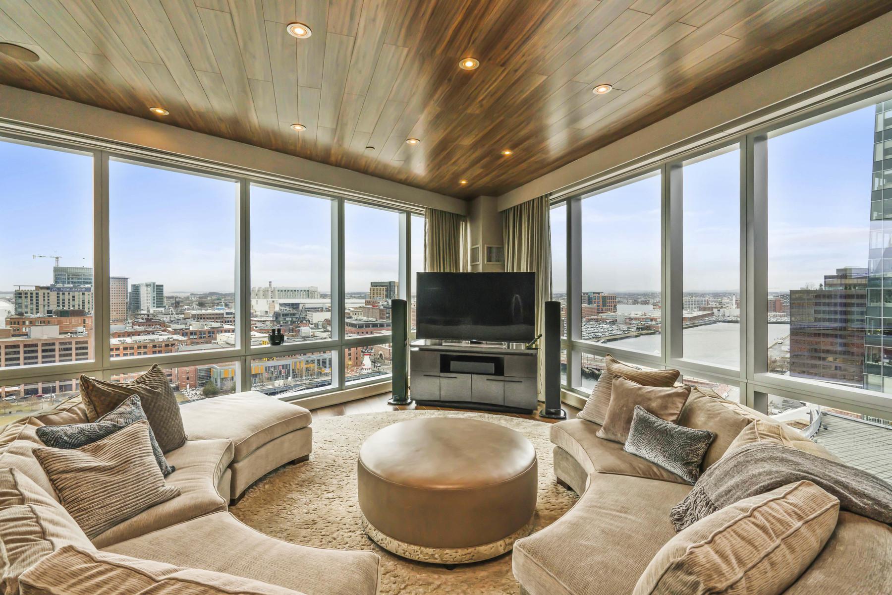 Appartement en copropriété pour l Vente à Magnficient Harbor Views From Every Room Of This Luxury Condo 500 Atlantic Avenue Unit 16K Waterfront, Boston, Massachusetts, 02210 États-Unis