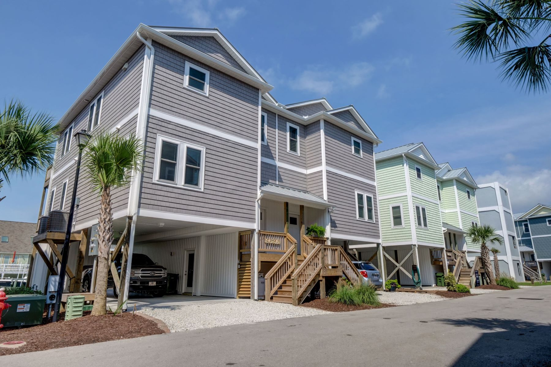 townhouses for Sale at Exquisite New Waterway Townhouse in Topsail Beach 963 A Tower Court Topsail Beach, North Carolina 28445 United States