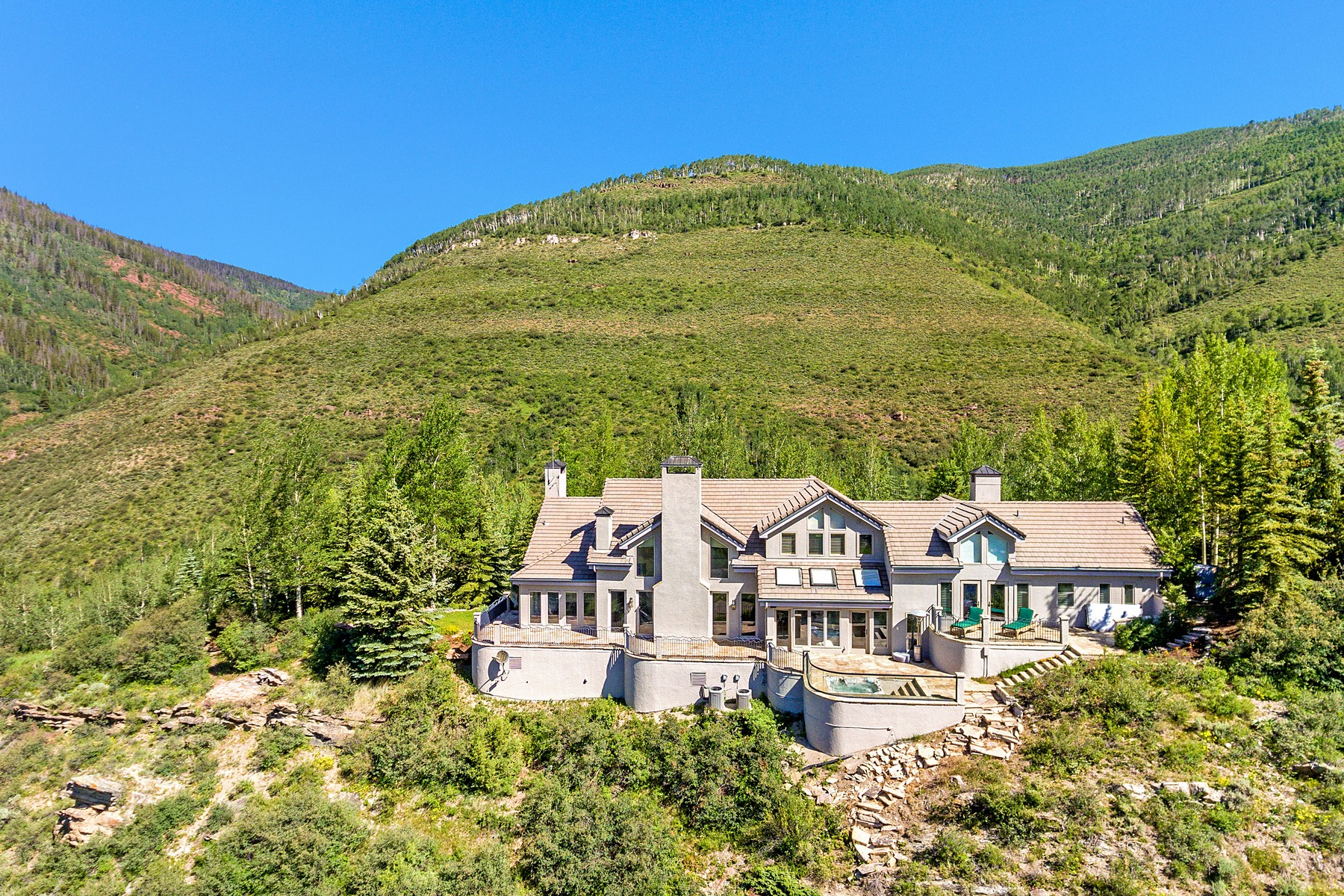 Single Family Home for Active at Magnificent views of the Gore Range Mountains 1675 Aspen Ridge Road Vail, Colorado 81657 United States