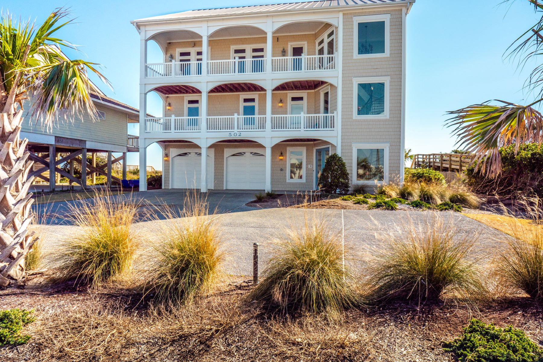 Single Family Homes for Sale at Oceanfront Custom Design Beach Home 502 N Shore Drive Surf City, North Carolina 28445 United States