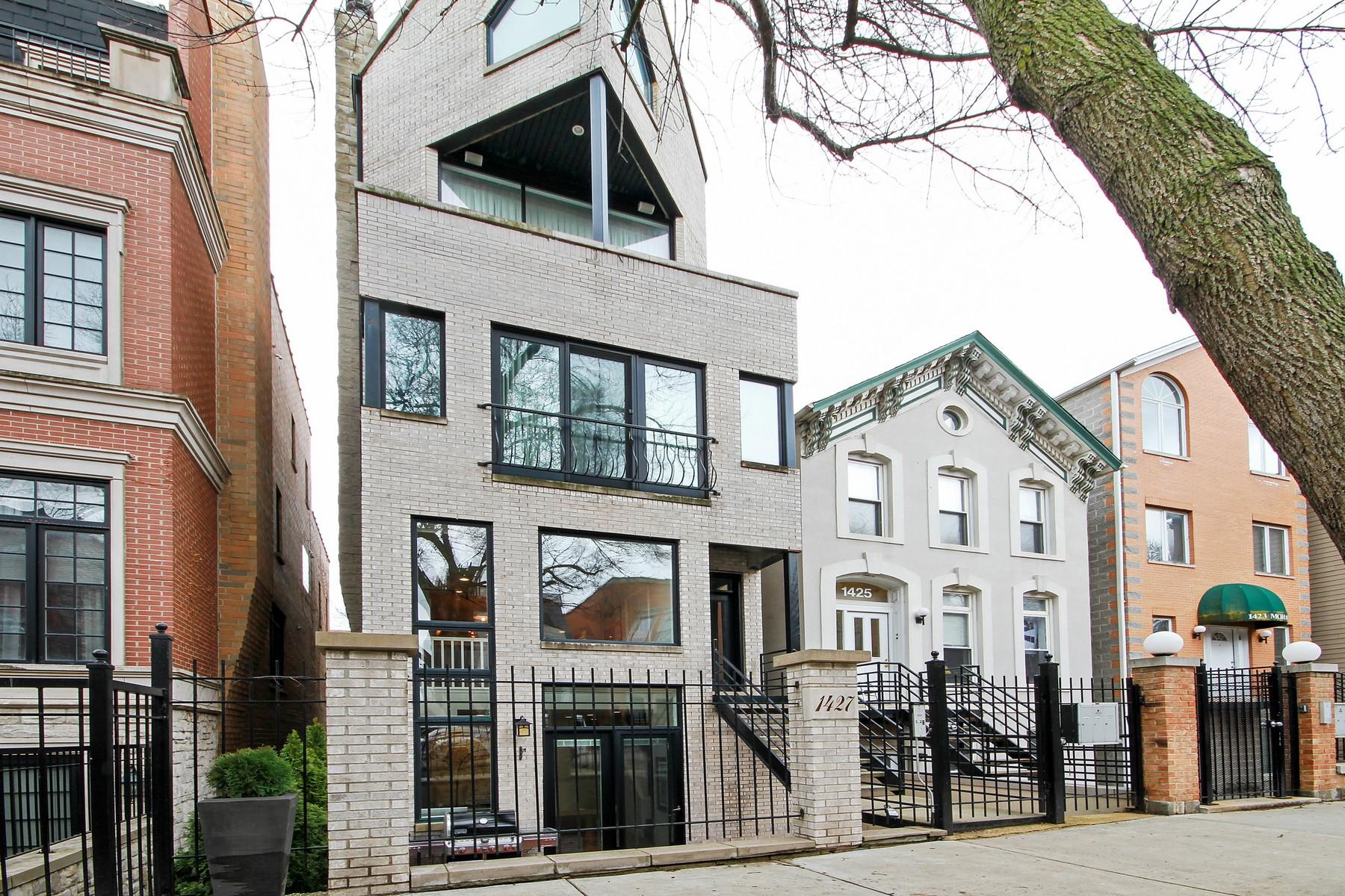 コンドミニアム のために 売買 アット Beautiful and Updated Duplex Down 1427 N Mohawk Street Unit 1 Near North Side, Chicago, イリノイ, 60610 アメリカ合衆国