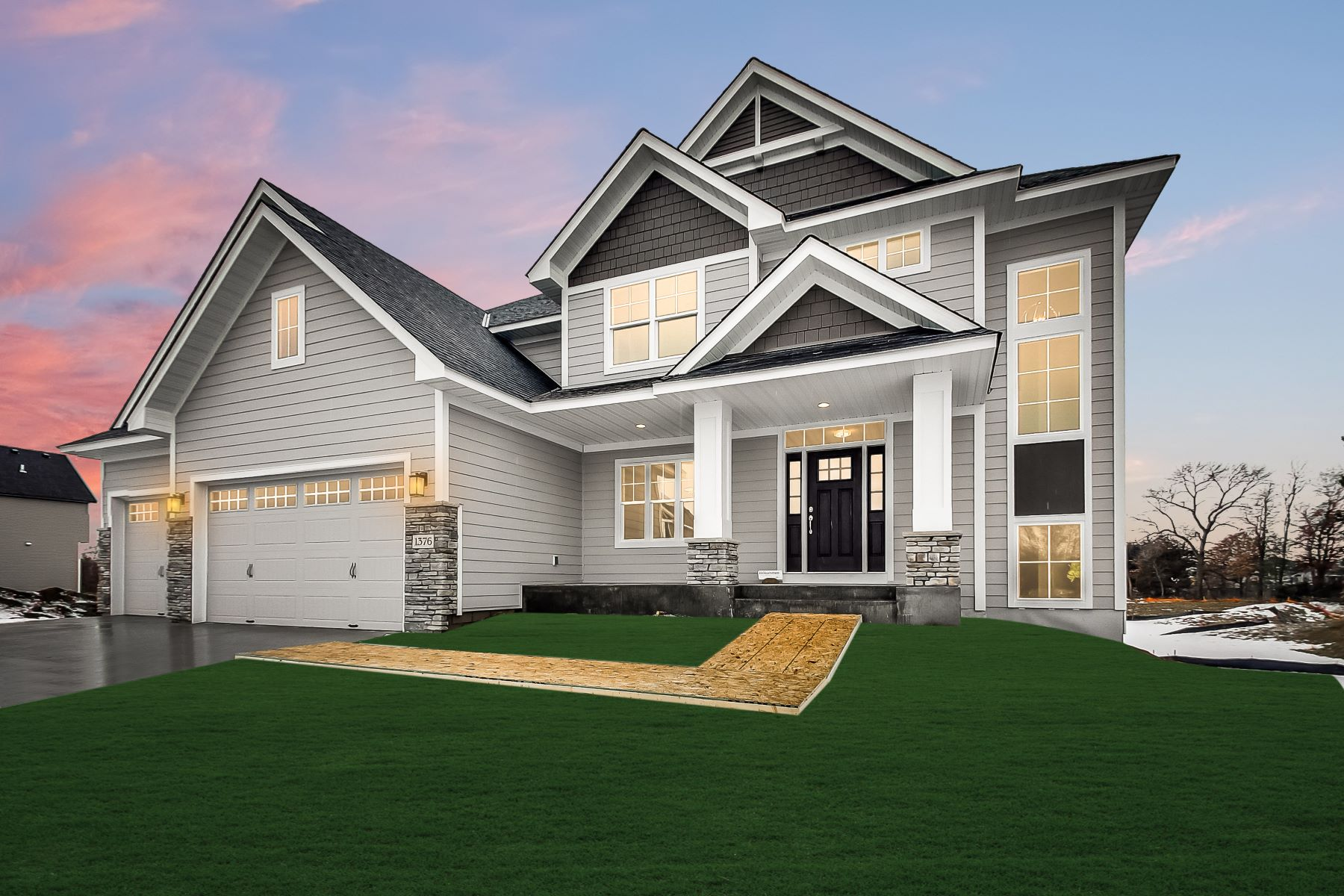 Single Family Homes voor Verkoop op Build With Award Winning Luxury Custom Home Builder! 14135 Opal Street NE, Ham Lake, Minnesota 55304 Verenigde Staten