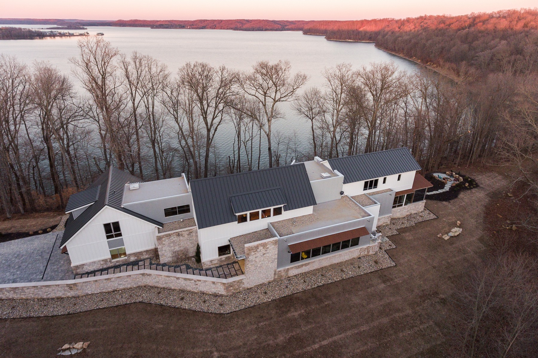 Single Family Home for Sale at Lake Monroe Waterfront Perfection 2771 E. Pedigo Bay Drive Bloomington, Indiana 47401 United States