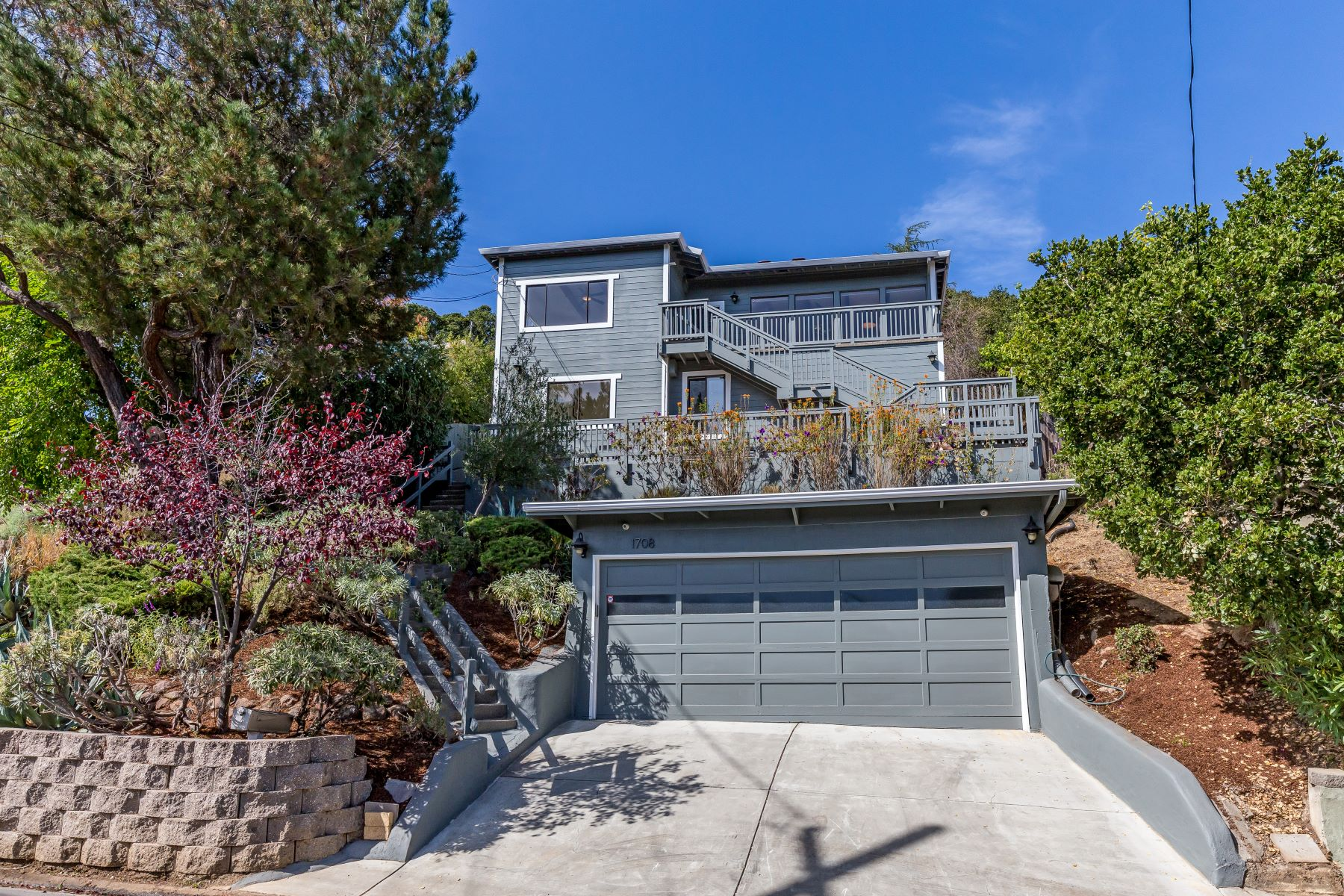 Single Family Homes for Sale at Urban Chic Remodel with Views 1708 Terrace Drive Belmont, California 94002 United States