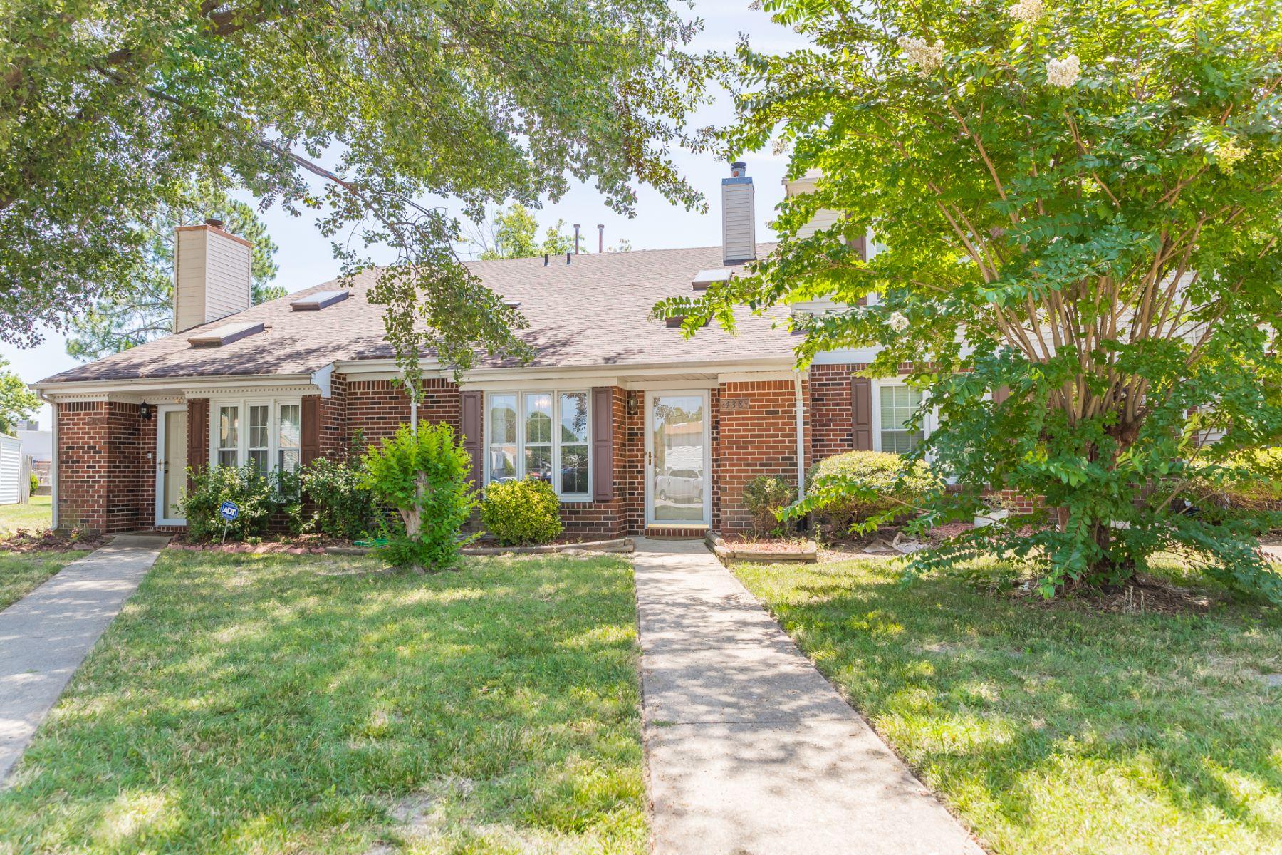 townhouses for Sale at Threechopt Village 438 Hollomon Drive Hampton, Virginia 23666 United States