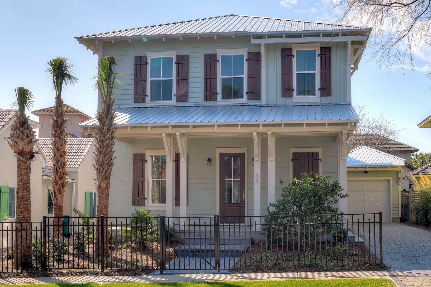 Tek Ailelik Ev için Satış at NEWLY COMPLETED COASTAL CONSTRUCTION IN GATED BEACH-FRONT NEIGHBORHOOD 68 Rue Caribe Miramar Beach, Florida, 32550 Amerika Birleşik Devletleri