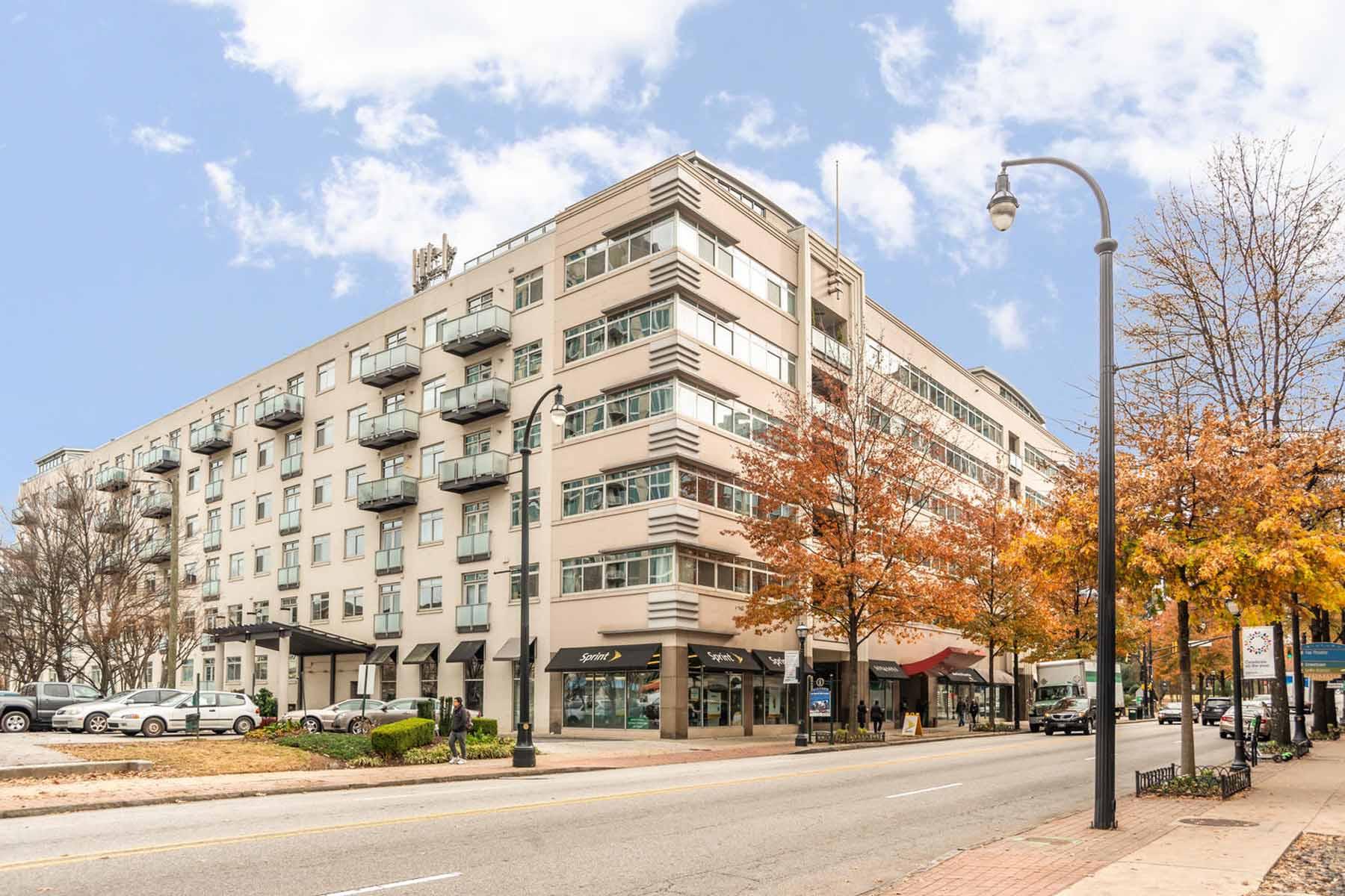 콘도미니엄 용 매매 에 End Unit Loft Style Condo in Heart of Midtown with Unobstructed Views 805 Peachtree St 518 Atlanta, 조지아 30309 미국