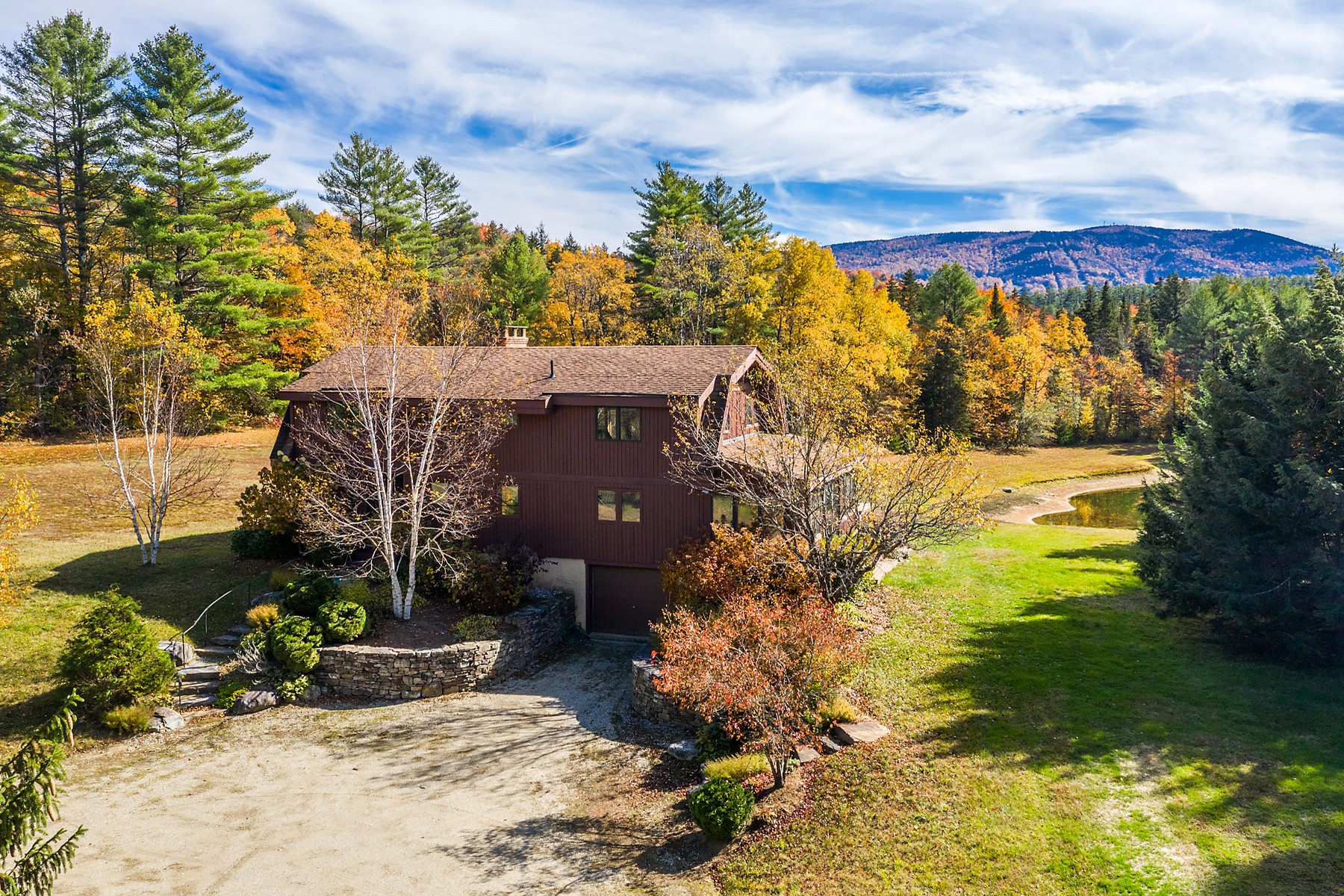 Single Family Homes for Sale at Custom Lindal Cedar Home Privately Set on 9+ Acres 332 Derry Woods Road Londonderry, Vermont 05148 United States