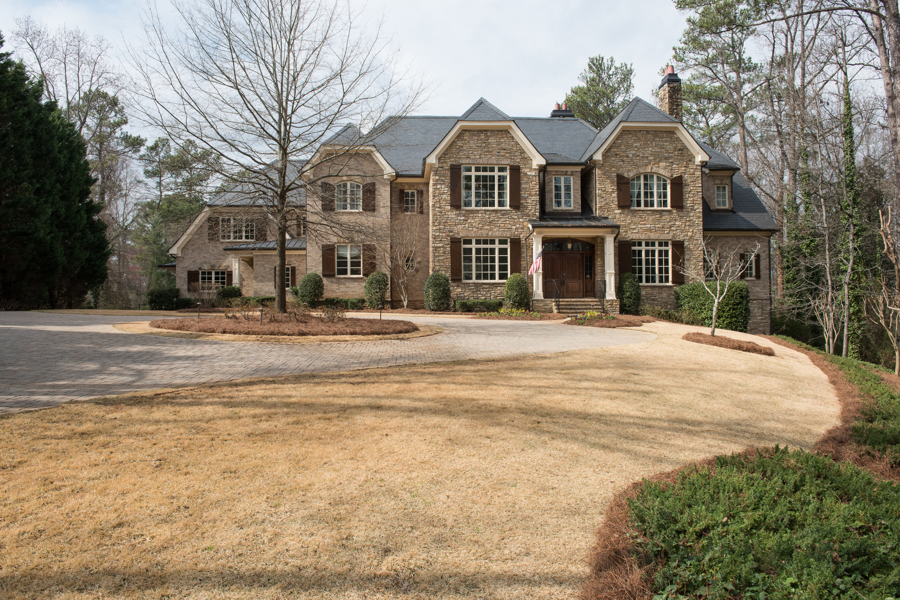 sales property at Exceptional Gated Estate Nestles on Two Acres in Prime Sandy Springs Location