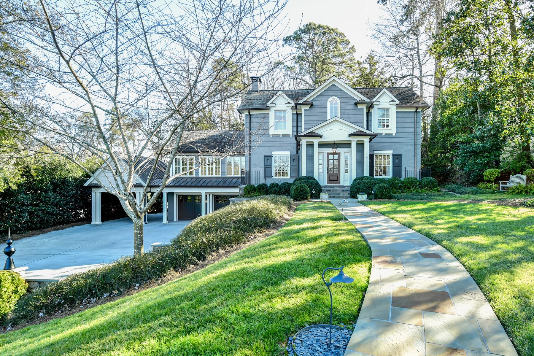 Частный односемейный дом для того Продажа на Exceptional Style and Sophistication in this Historic Brookhaven Home 19 Brookhaven Drive NE Atlanta, Джорджия 30319 Соединенные Штаты