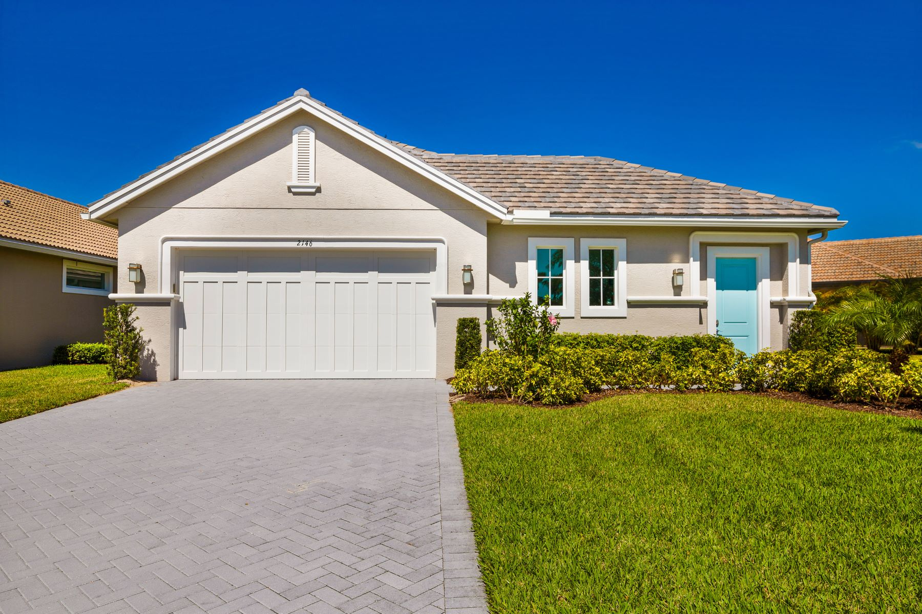 Single Family Home for Sale at New Lakefront Courtyard Home 2146 Falls Circle Vero Beach, Florida 32967 United States