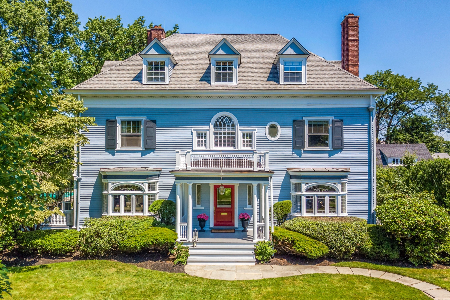 Single Family Homes for Sale at Elegant Georgian Colonial 77 Porter Place Montclair, New Jersey 07042 United States