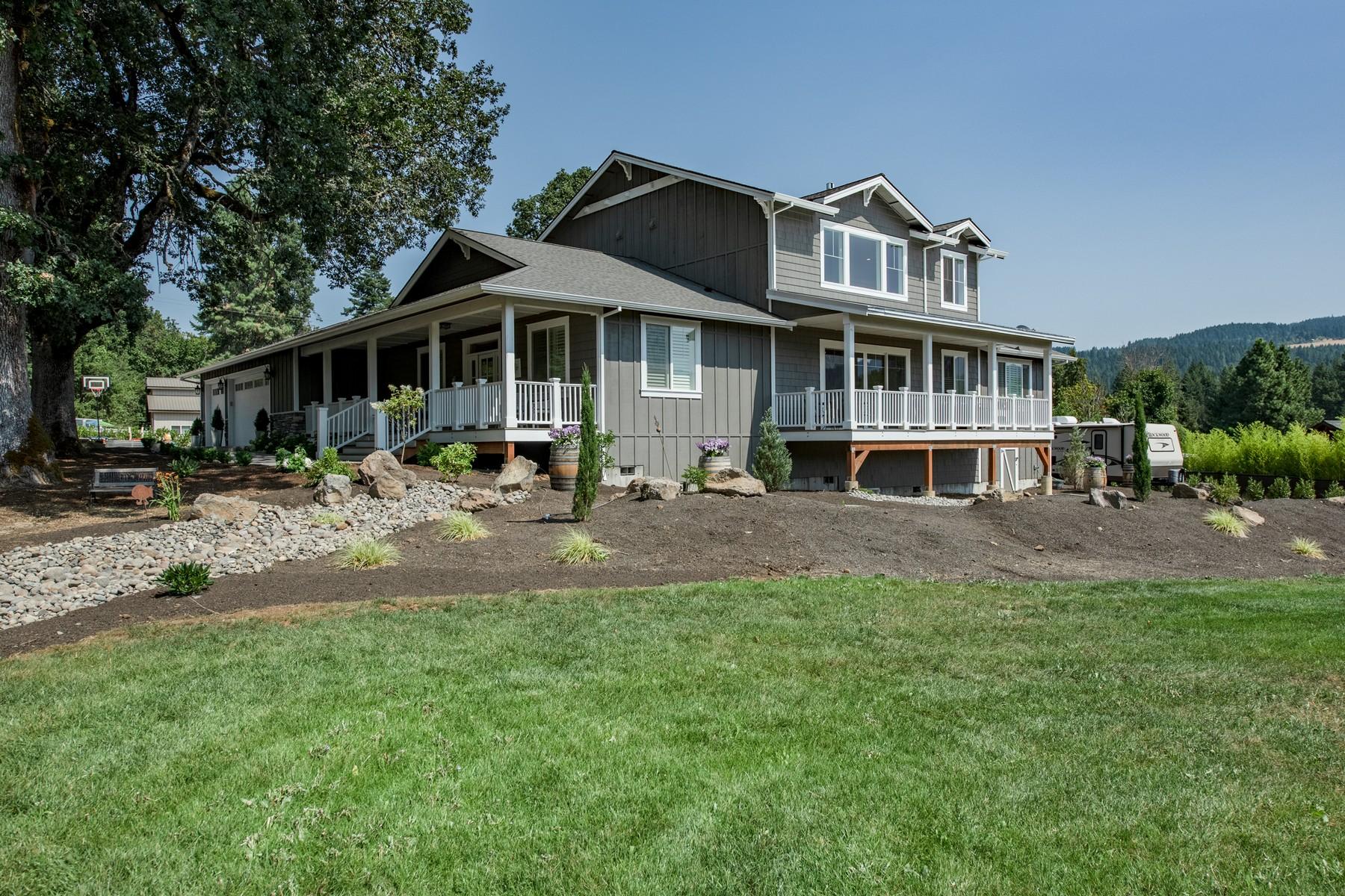 Single Family Homes for Sale at Custom Farmhouse 25 Longhorn LN White Salmon, Washington 98672 United States
